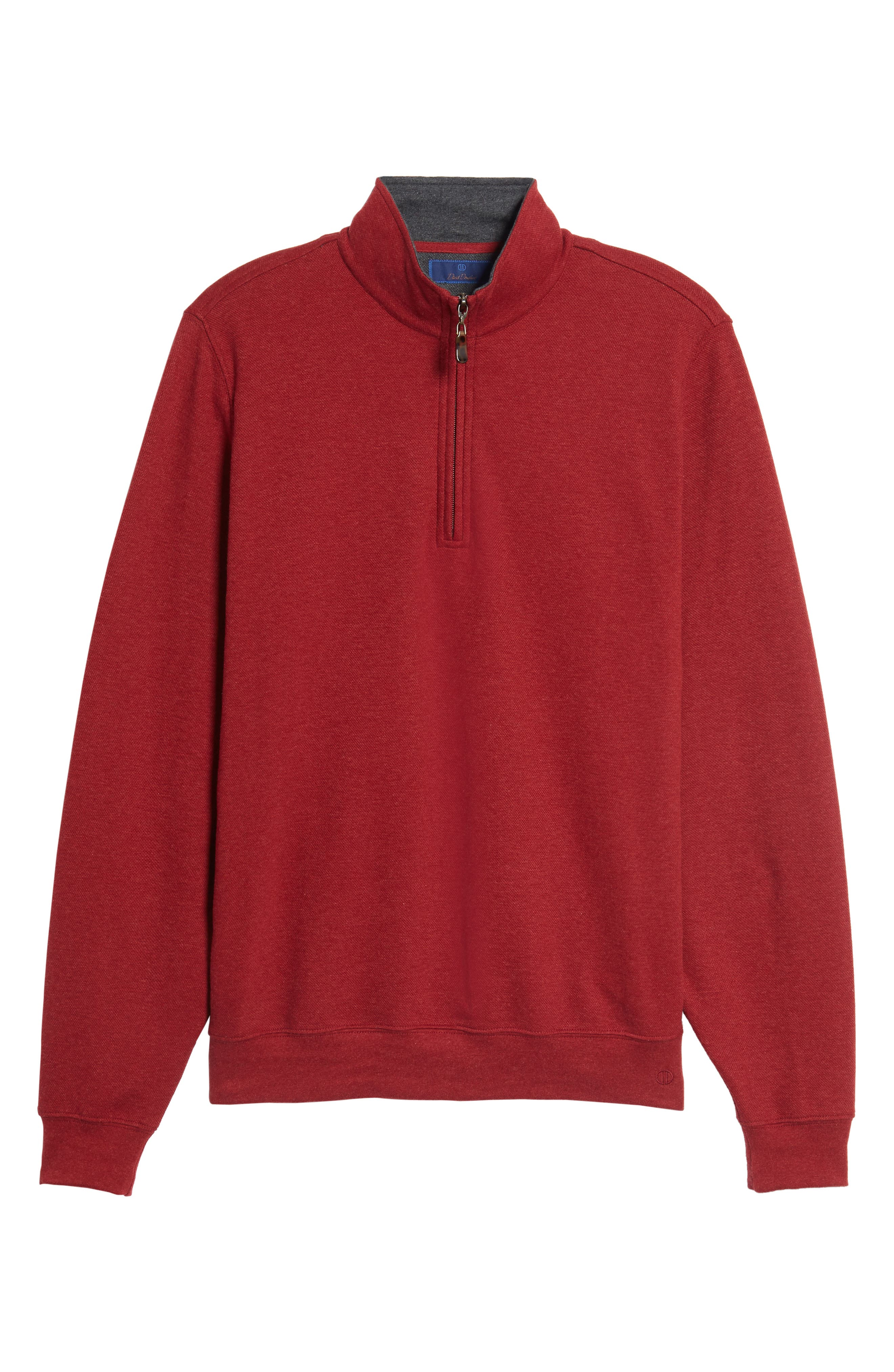 Mélange Quarter Zip Pullover,                             Alternate thumbnail 18, color,