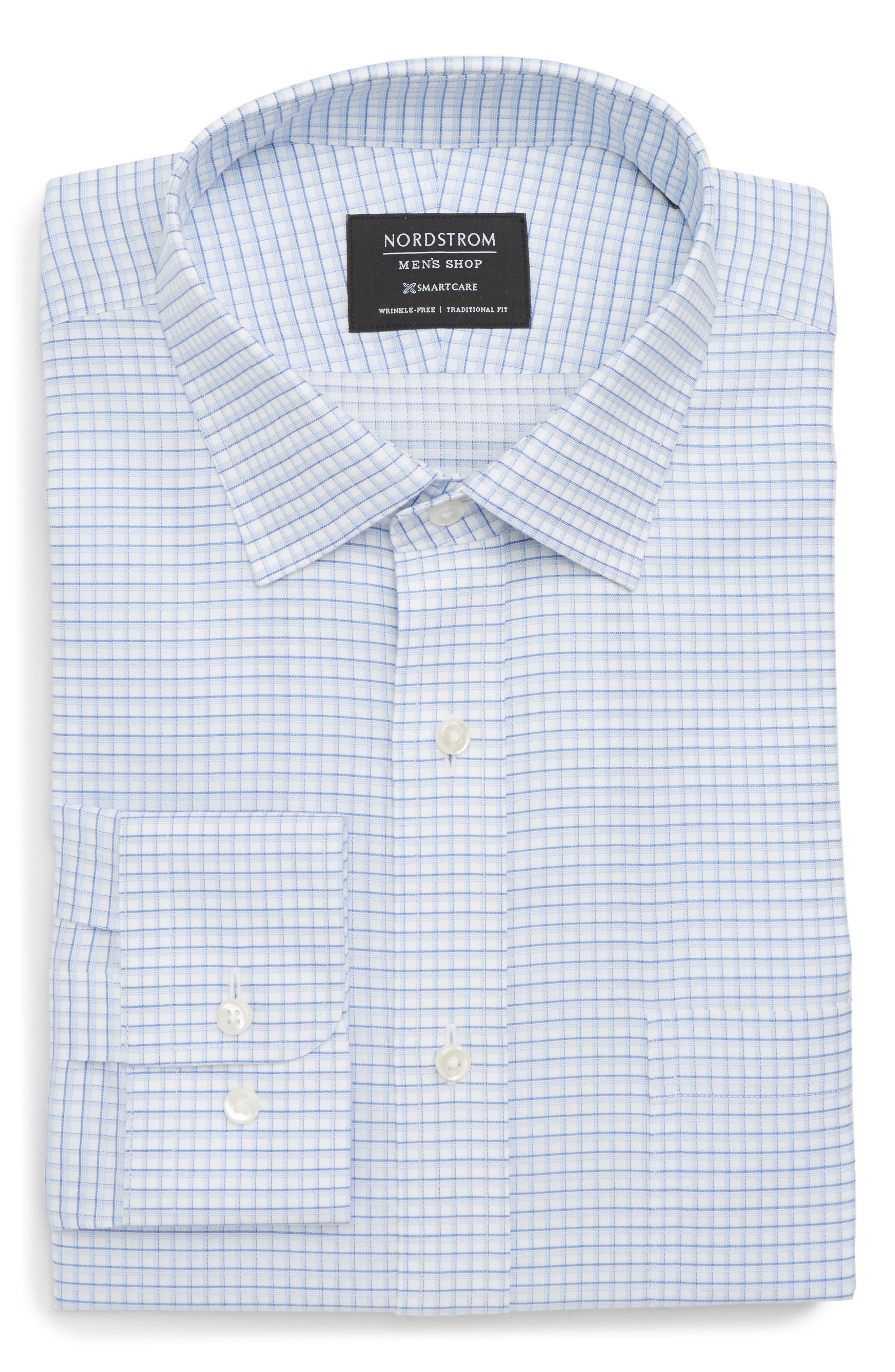 Smartcare<sup>™</sup> Traditional Fit Check Dress Shirt,                             Main thumbnail 1, color,                             450