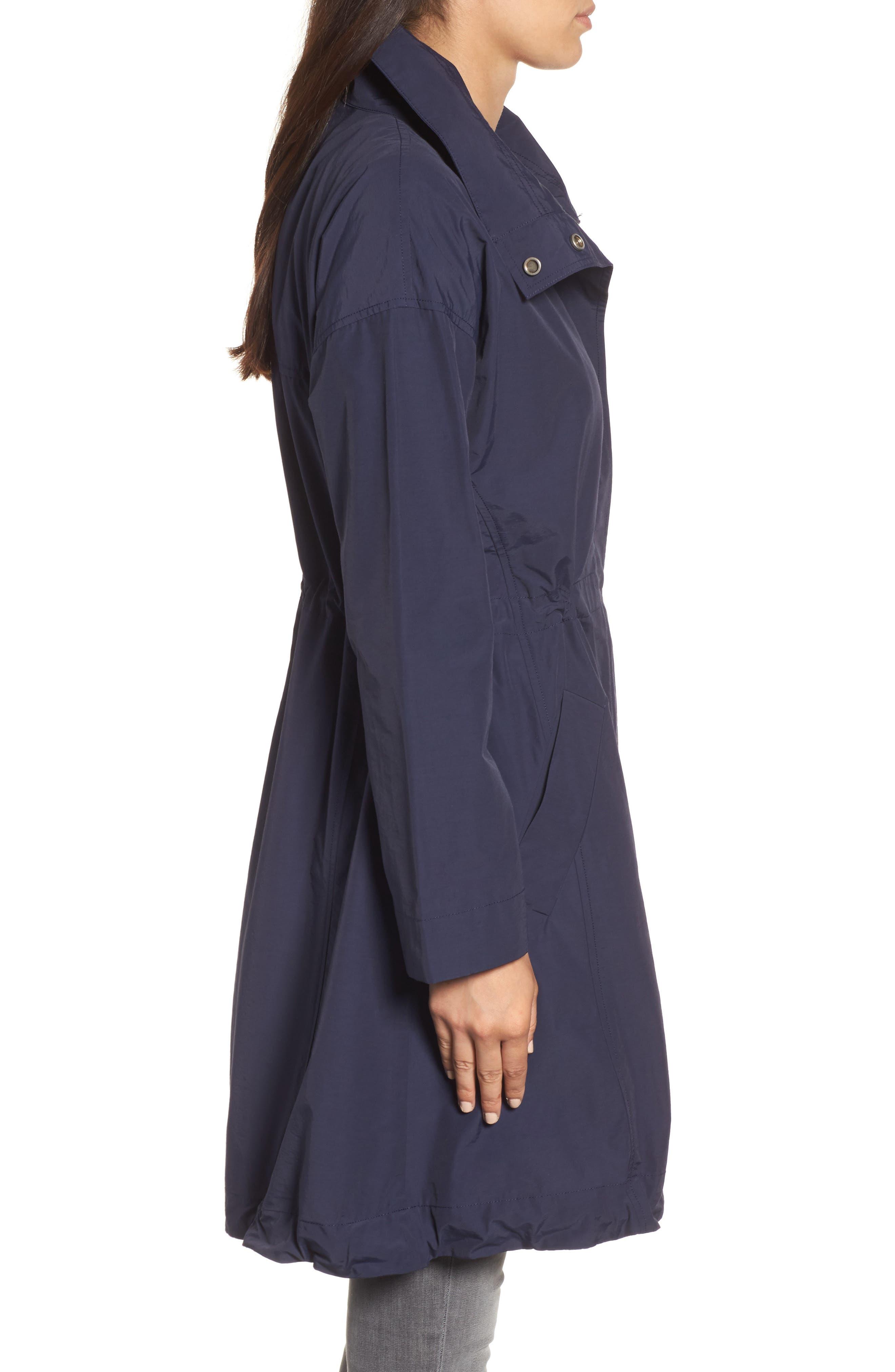 High Collar Long Jacket,                             Alternate thumbnail 3, color,                             419