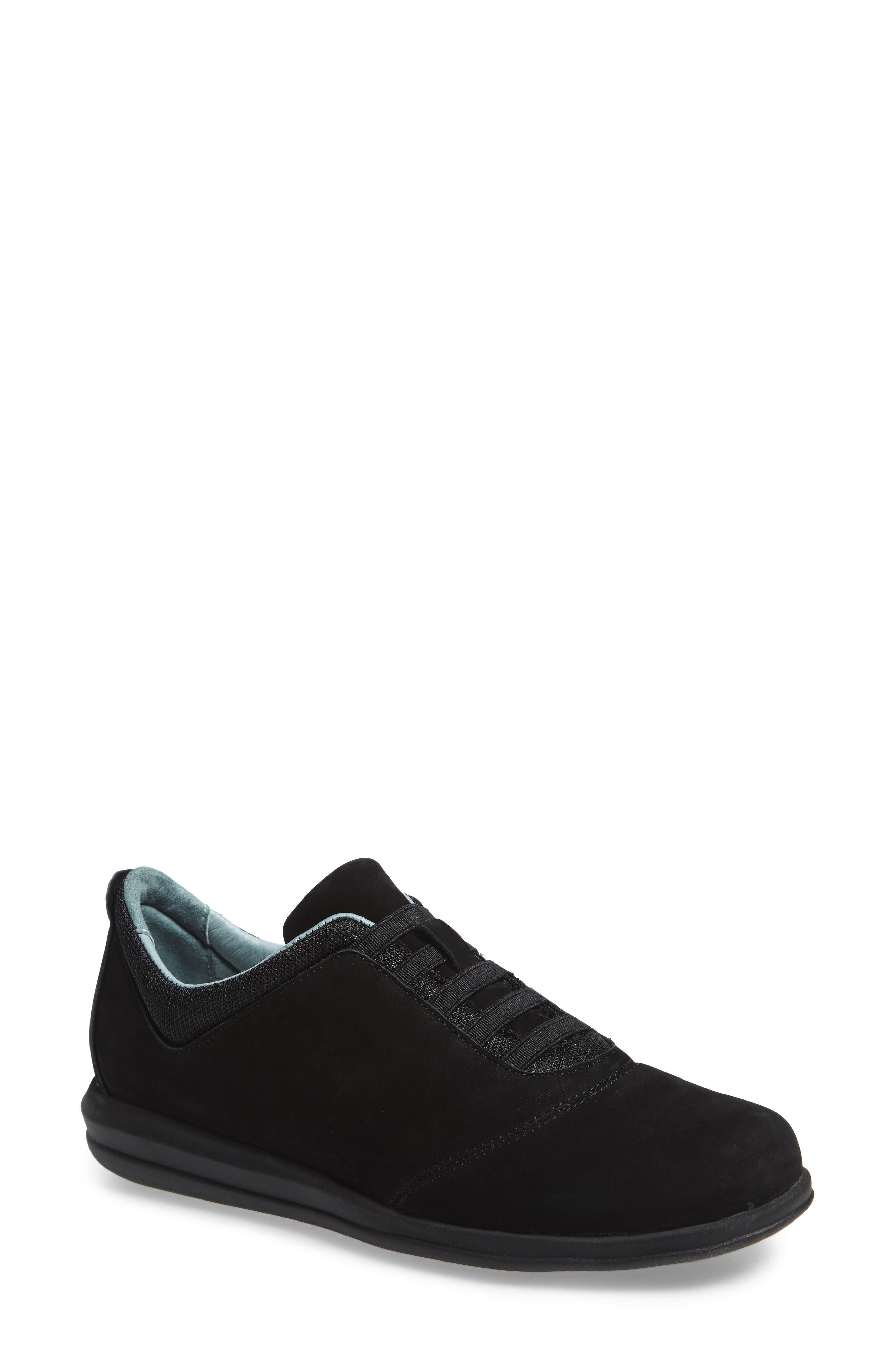 Dynamic Slip-On Sneaker,                         Main,                         color, BLACK NUBUCK