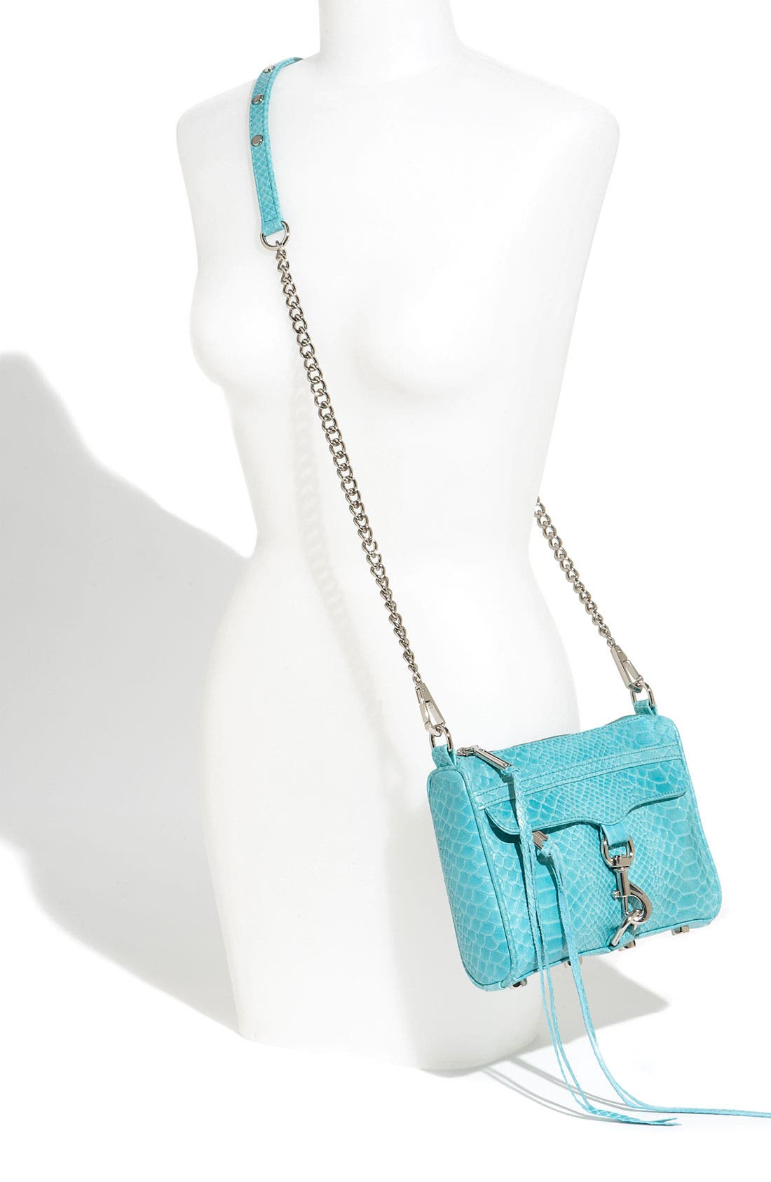 'Mini MAC' Croc Embossed Convertible Crossbody Bag,                             Alternate thumbnail 24, color,