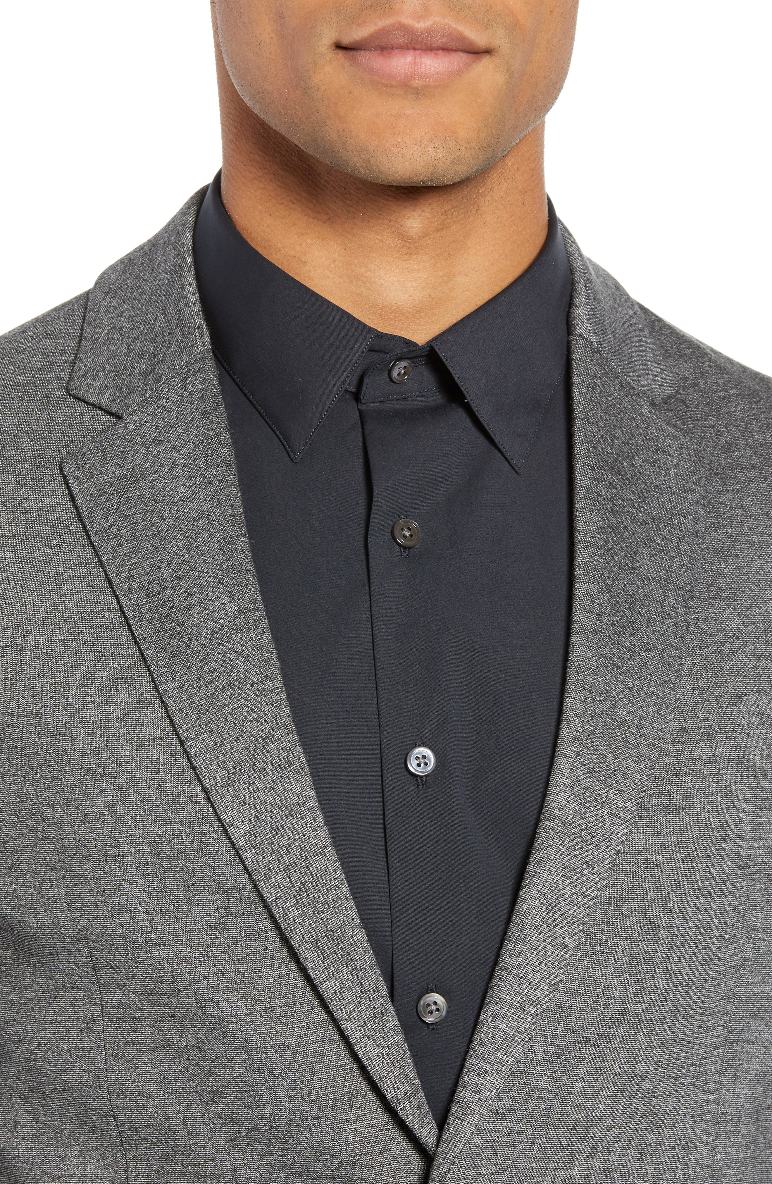 THEORY,                             Clinton Marled Ponte Sport Coat,                             Alternate thumbnail 4, color,                             004