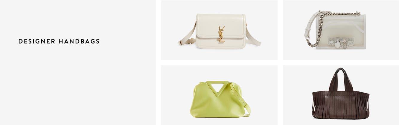 A Saint Laurent shoulder bag, Alexander McQueen crossbody, Bottega Veneta satchel and Valentino tote.