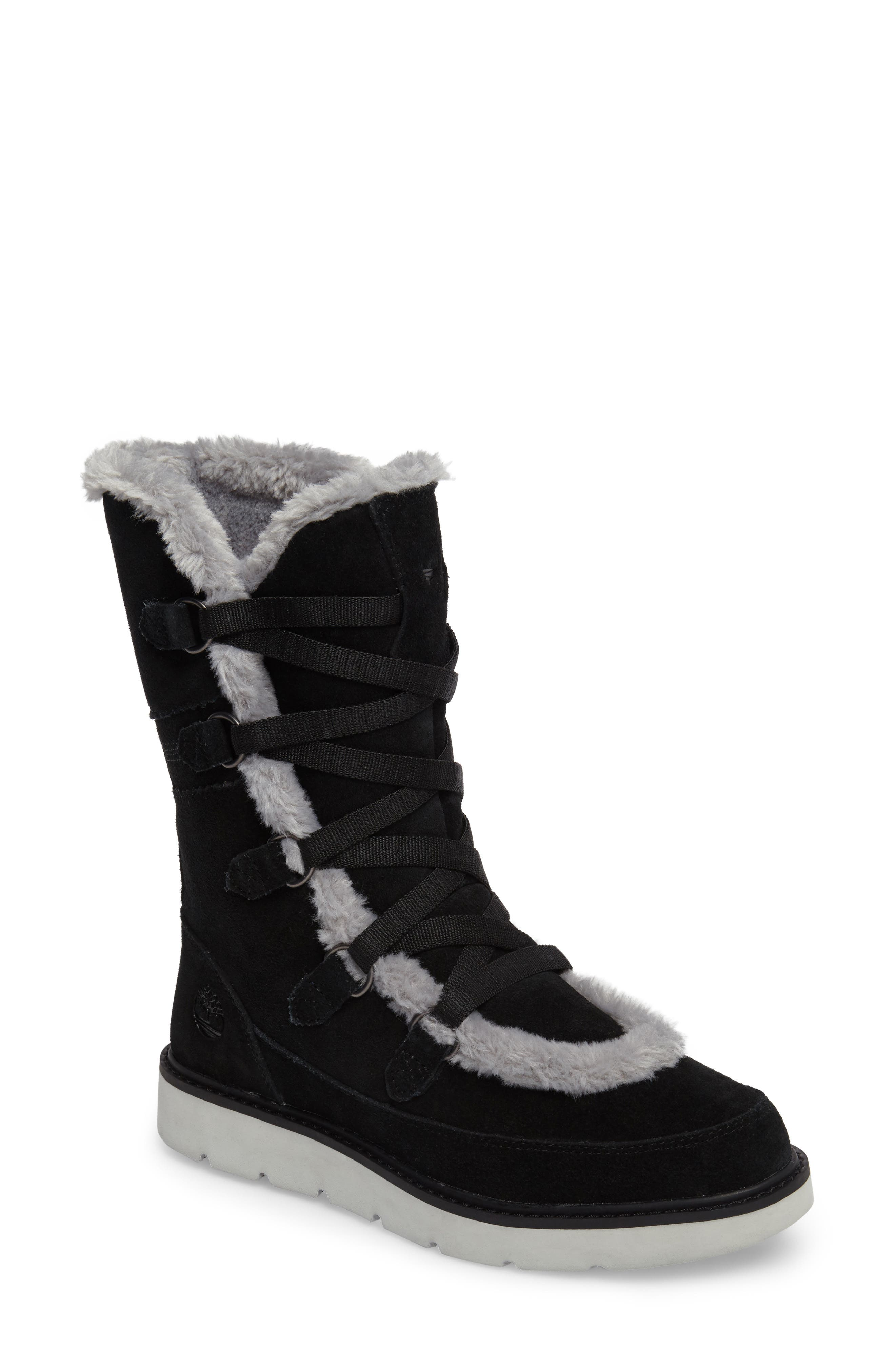 Kenniston Faux Fur Water Resistant Mukluk Boot,                             Main thumbnail 1, color,                             001