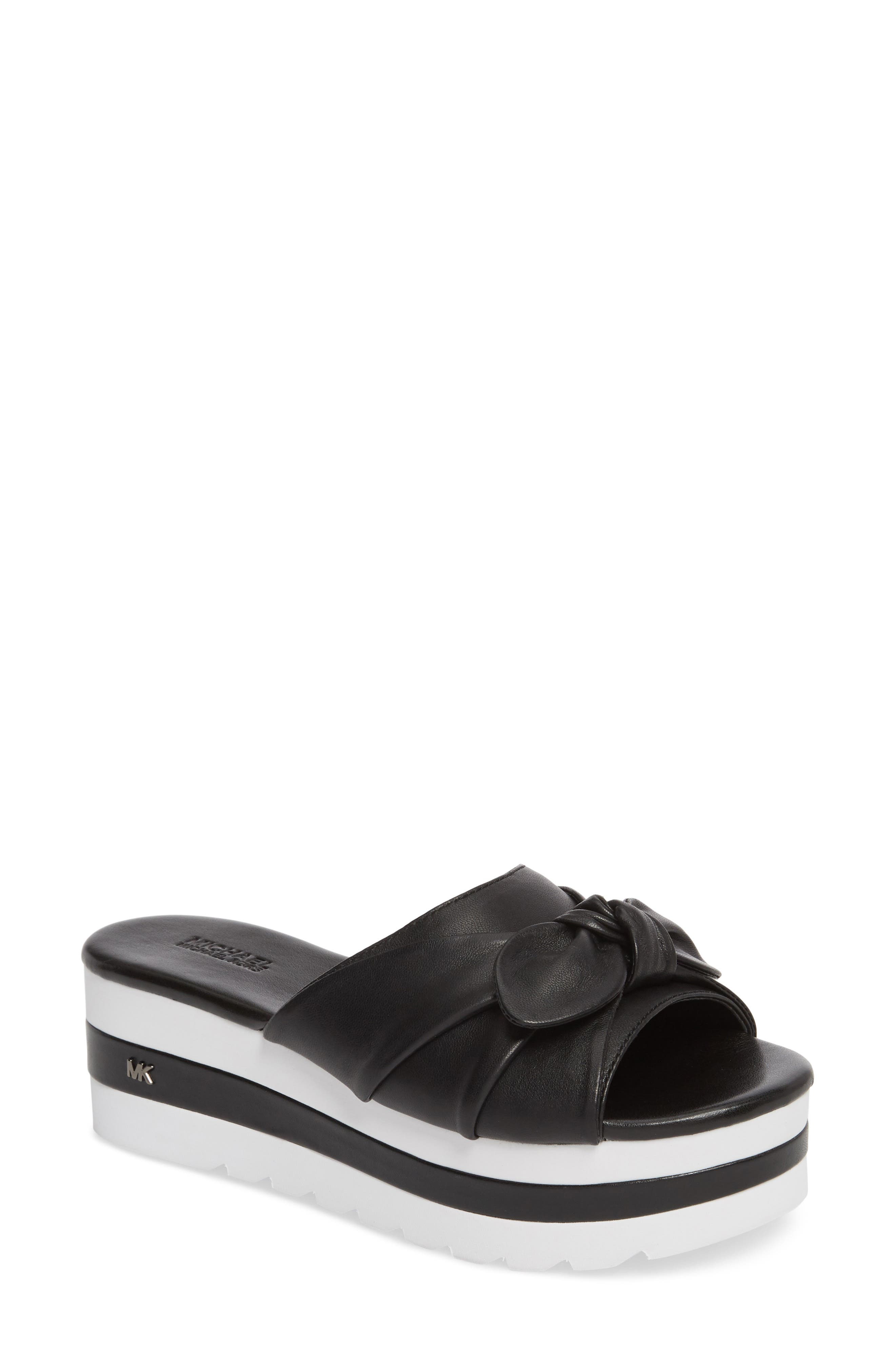 MICHAEL MICHAEL KORS Pippa Platform Slide Sandal, Main, color, 001