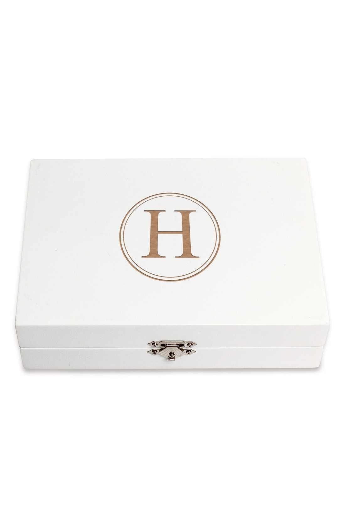 Monogram Wooden Jewelry Box,                             Main thumbnail 37, color,