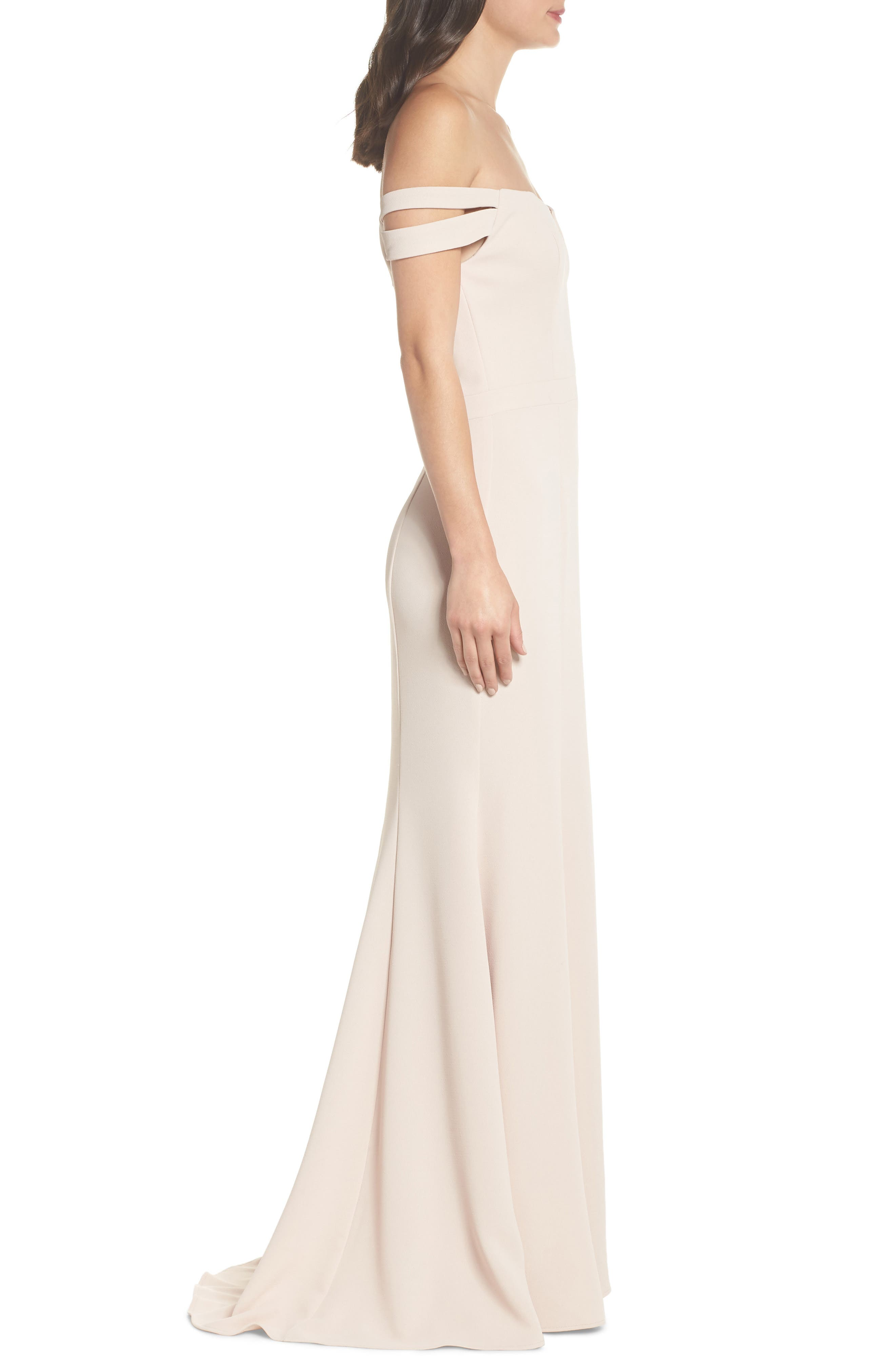 Off the Shoulder Trumpet Gown,                             Alternate thumbnail 3, color,                             680