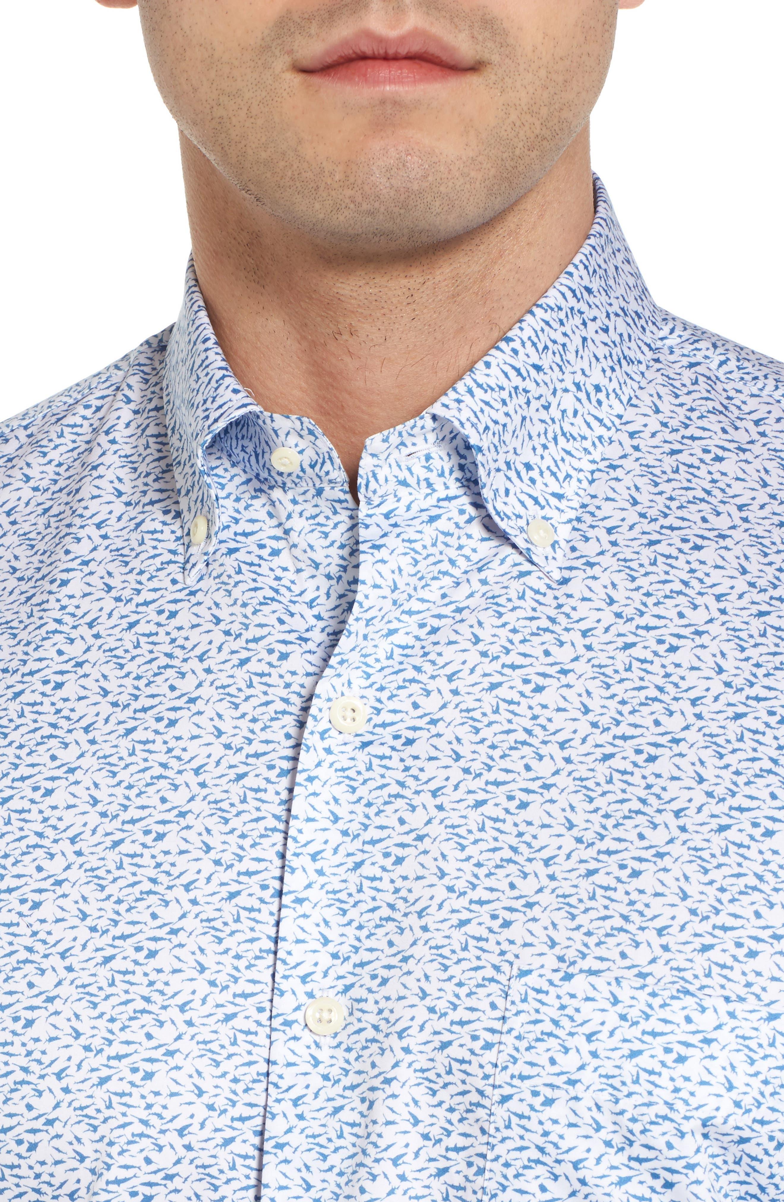 Hammer Time Regular Fit Print Sport Shirt,                             Alternate thumbnail 4, color,