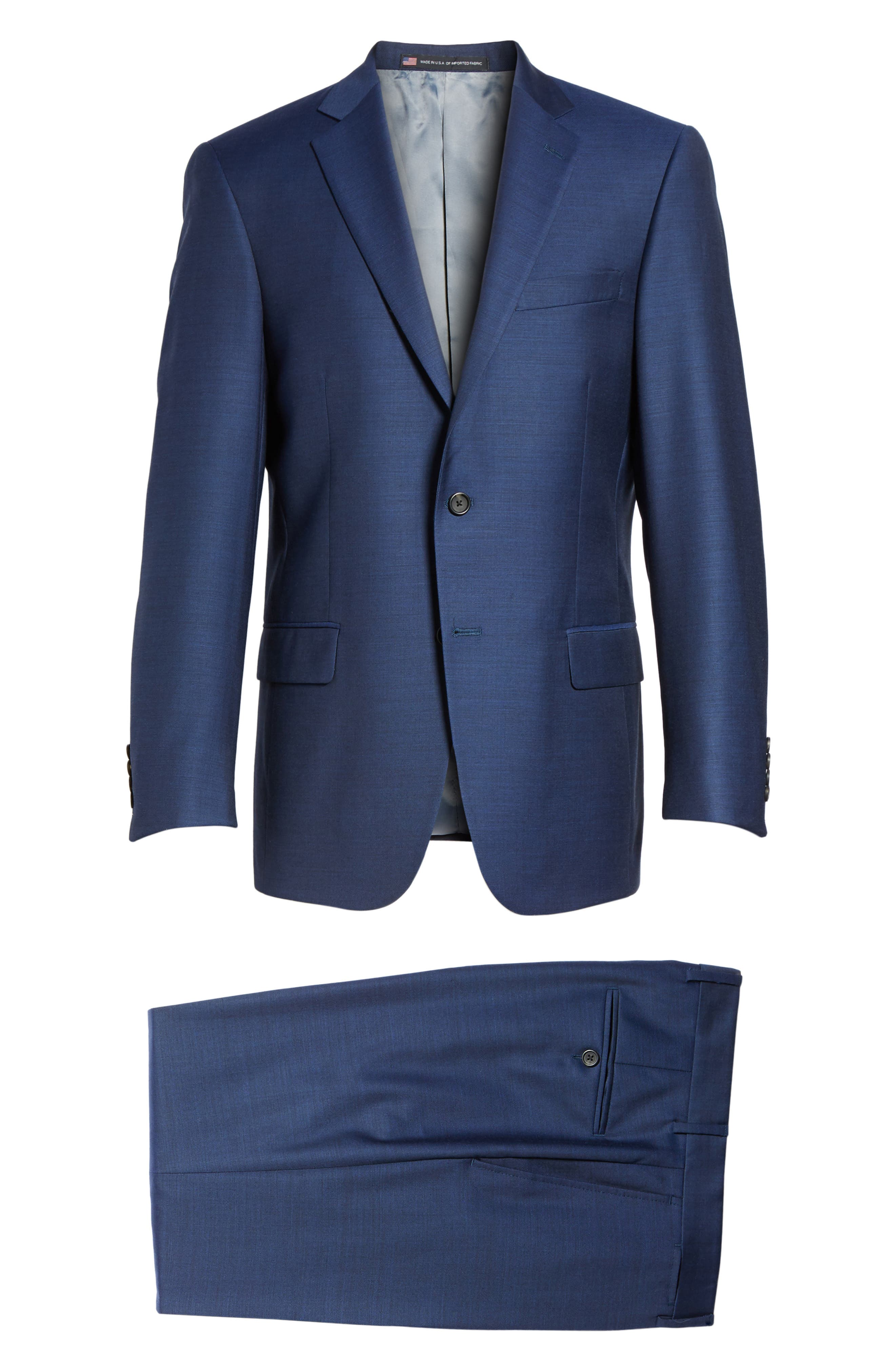 Classic Fit Solid Wool Suit,                             Alternate thumbnail 8, color,                             401