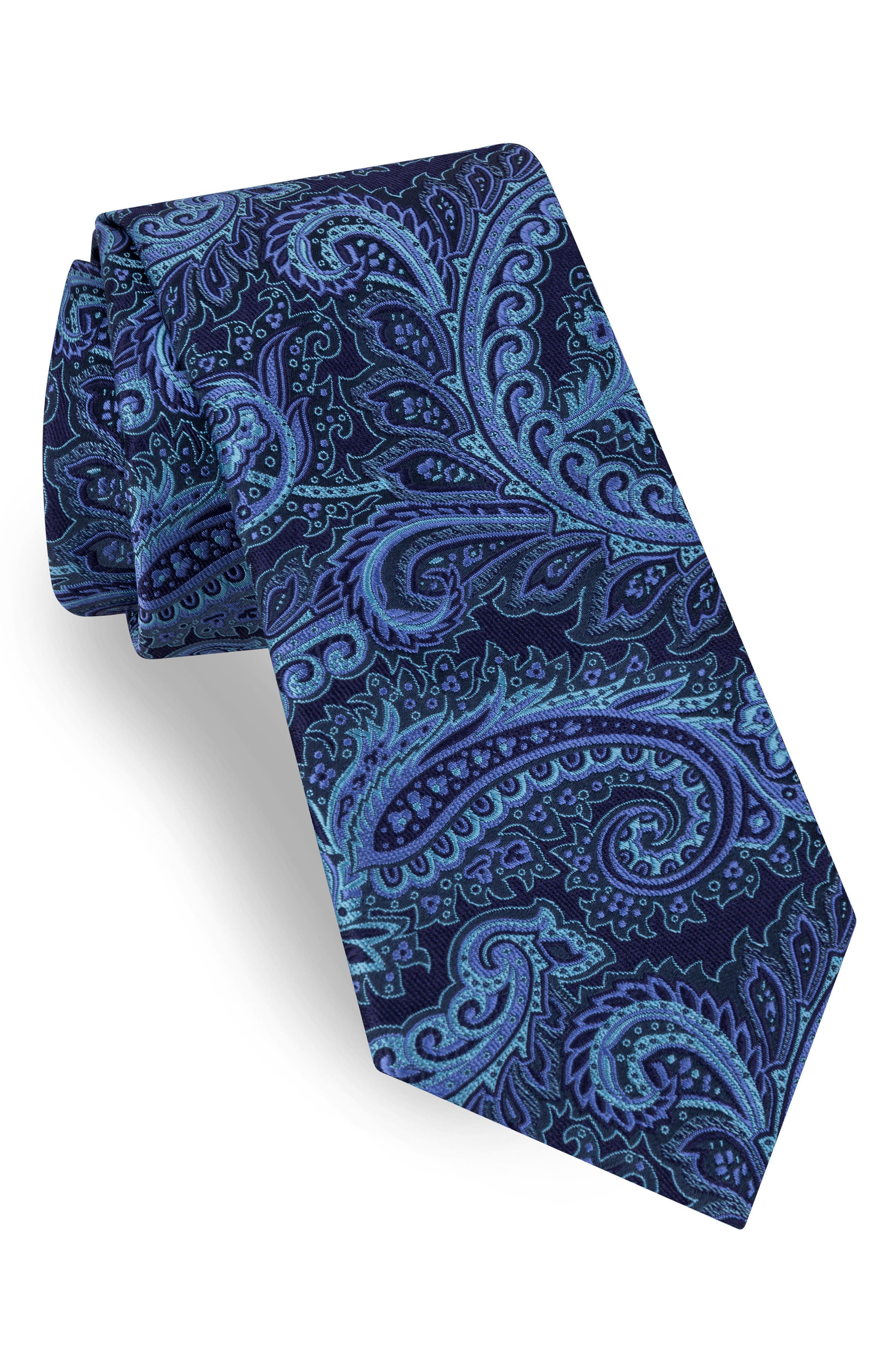 Paisley Silk Tie,                         Main,                         color, 518