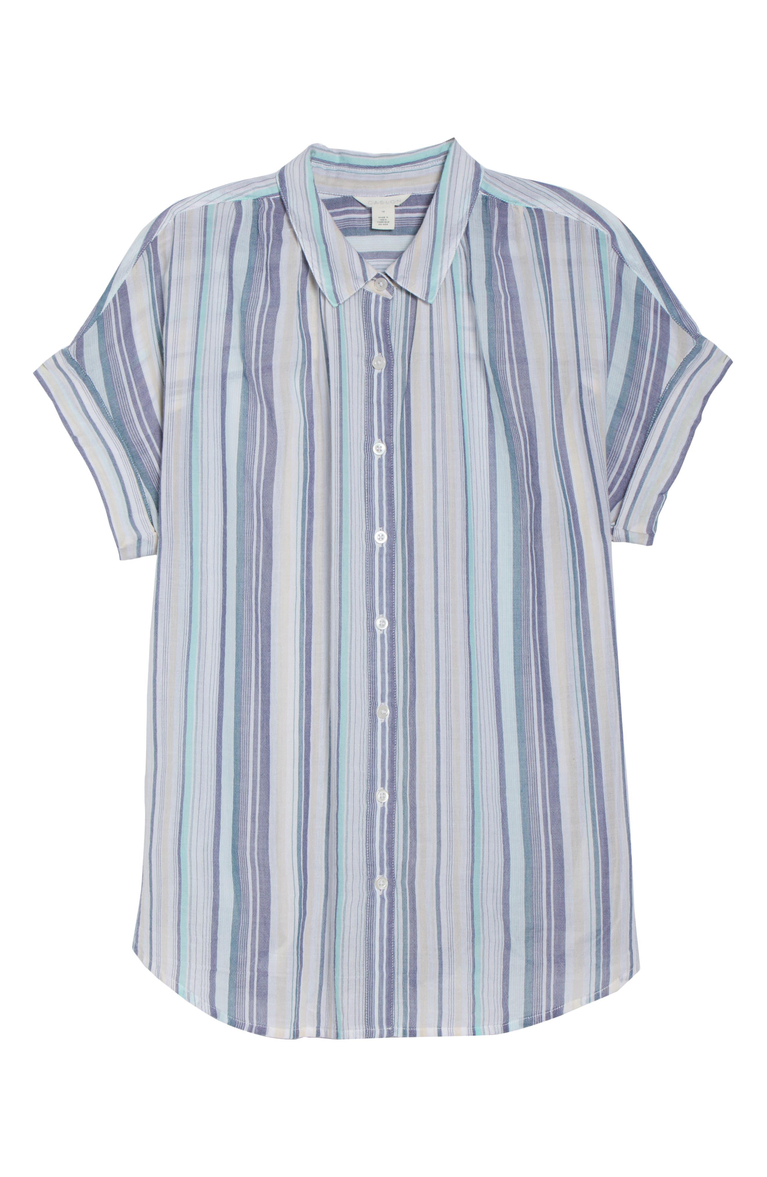 Sheer Stripe Shirt,                             Alternate thumbnail 7, color,                             101