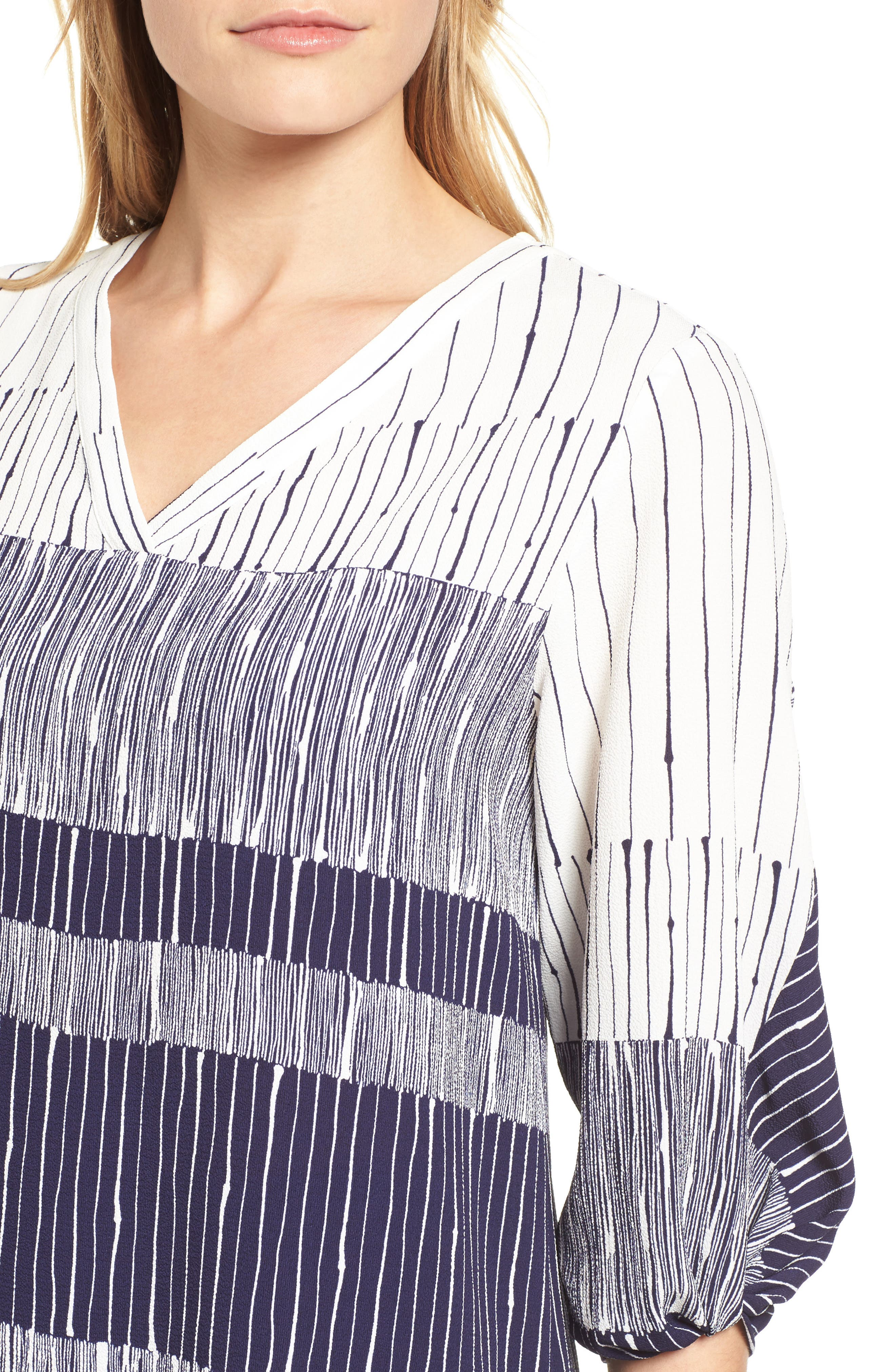 Ink Lines Blouse,                             Alternate thumbnail 4, color,                             400
