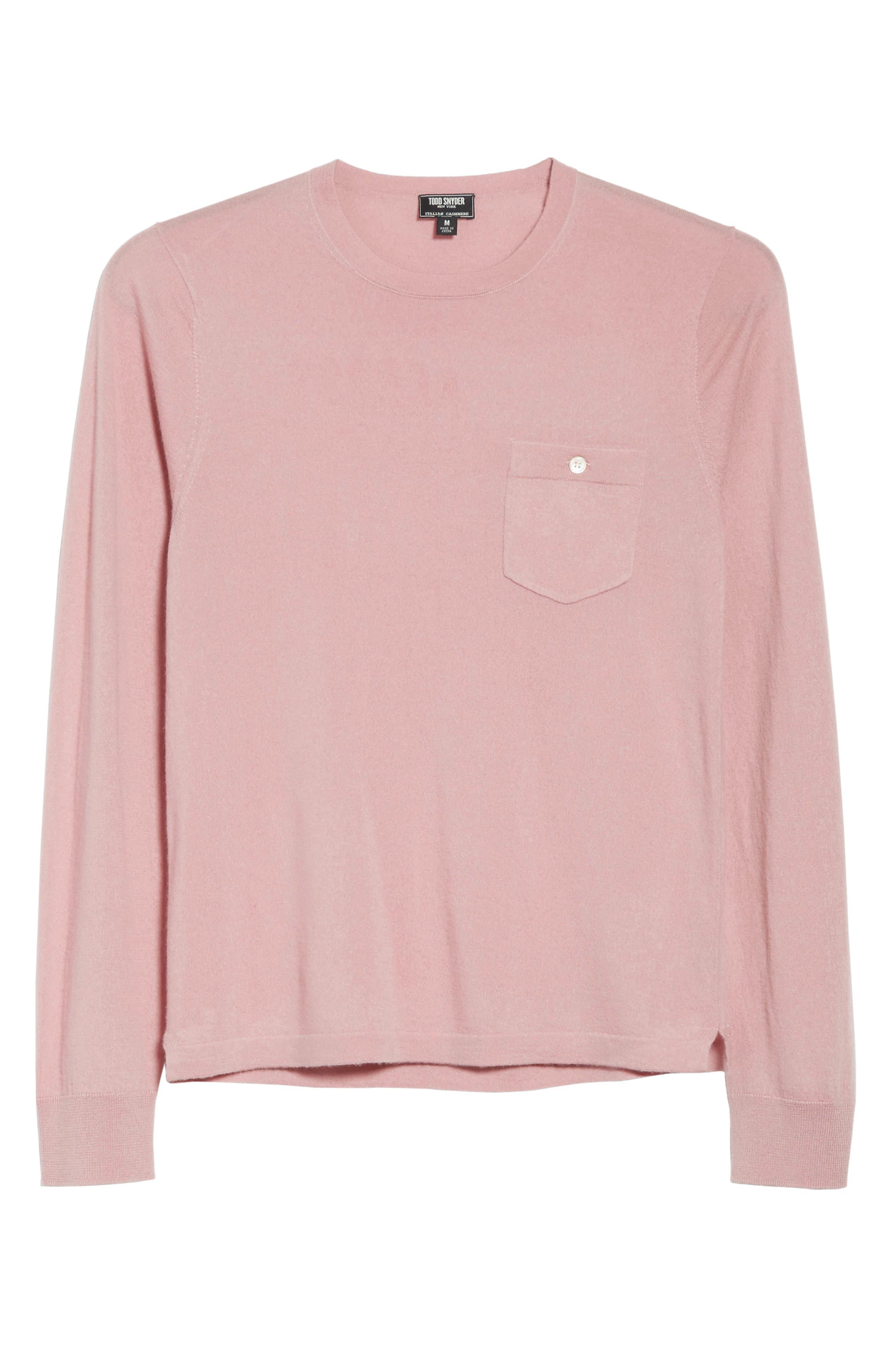 Cashmere Long Sleeve T-Shirt,                             Alternate thumbnail 6, color,