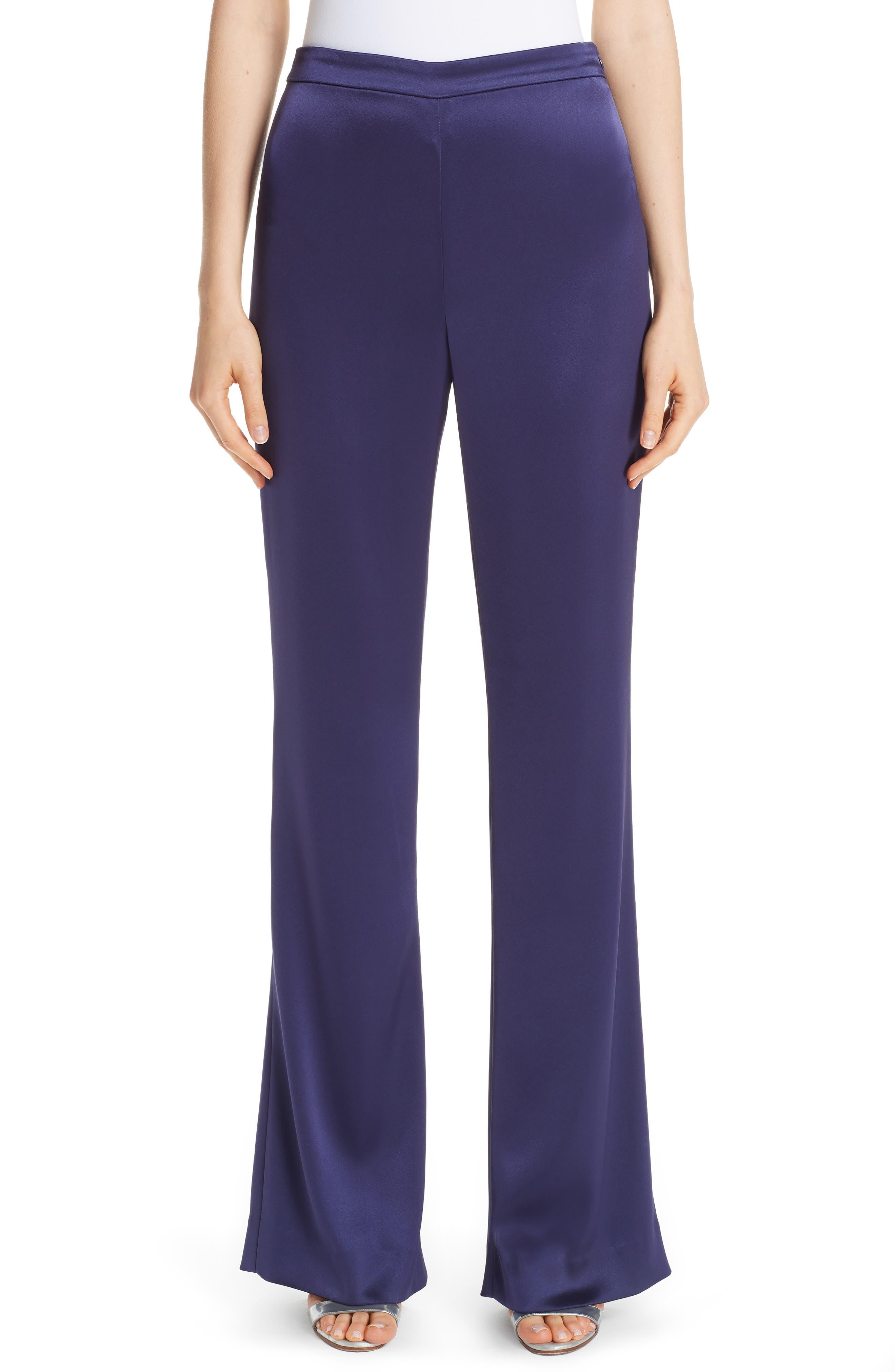 Liquid Satin Pants,                         Main,                         color, VIOLA
