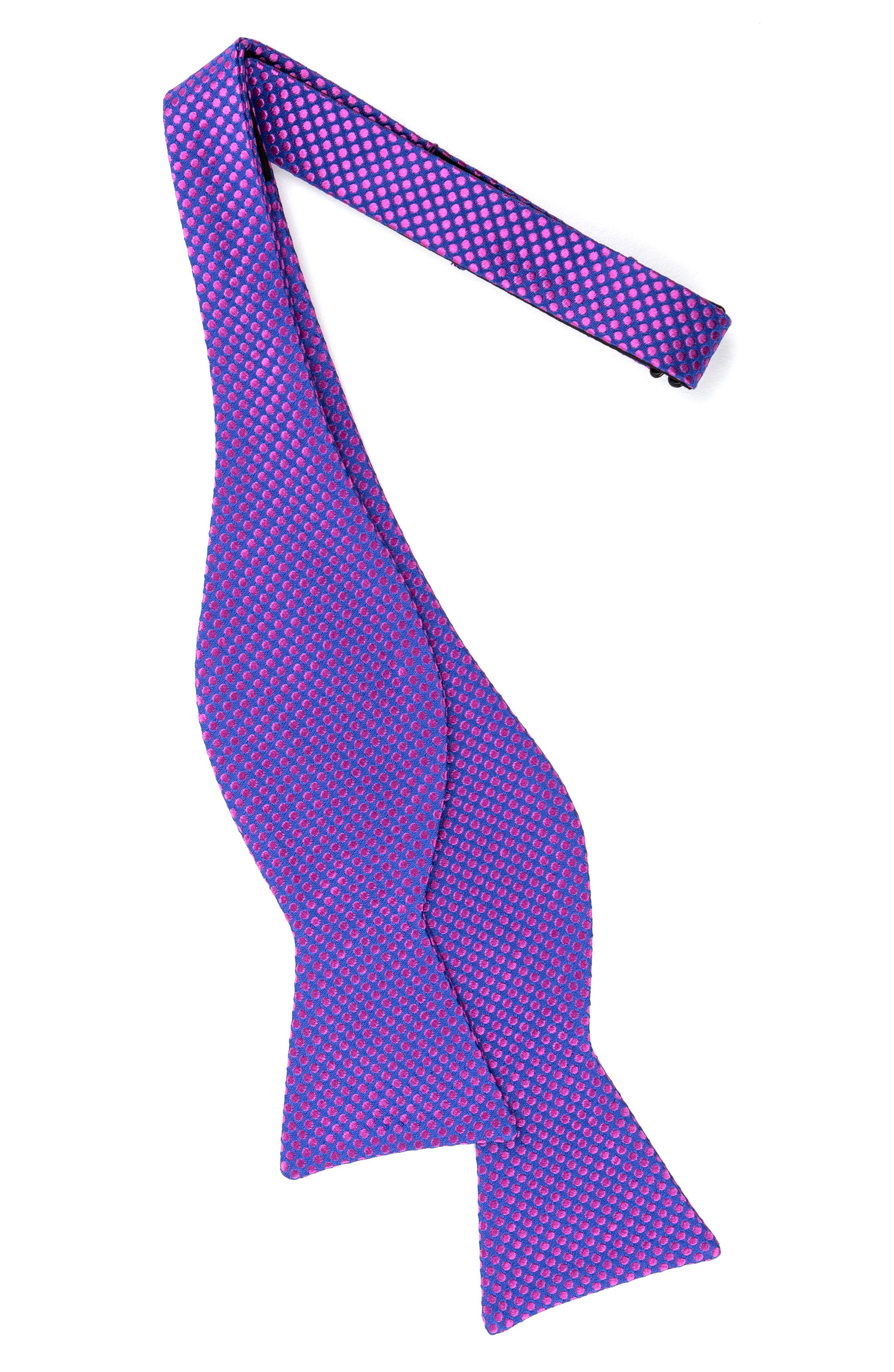 Dot Silk Bow Tie,                             Alternate thumbnail 8, color,