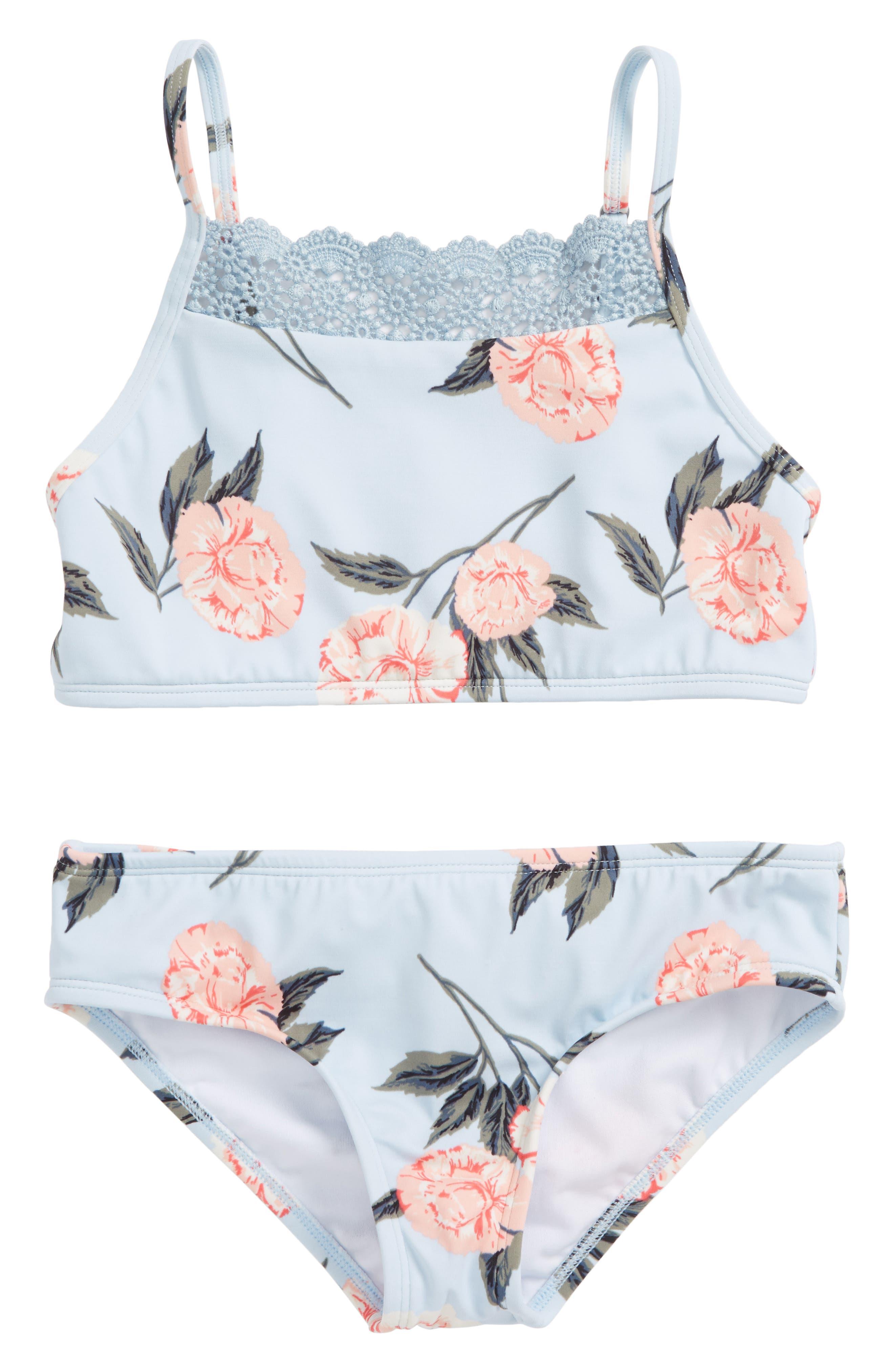 Petal Daze Two-Piece Swimsuit,                         Main,                         color, 428