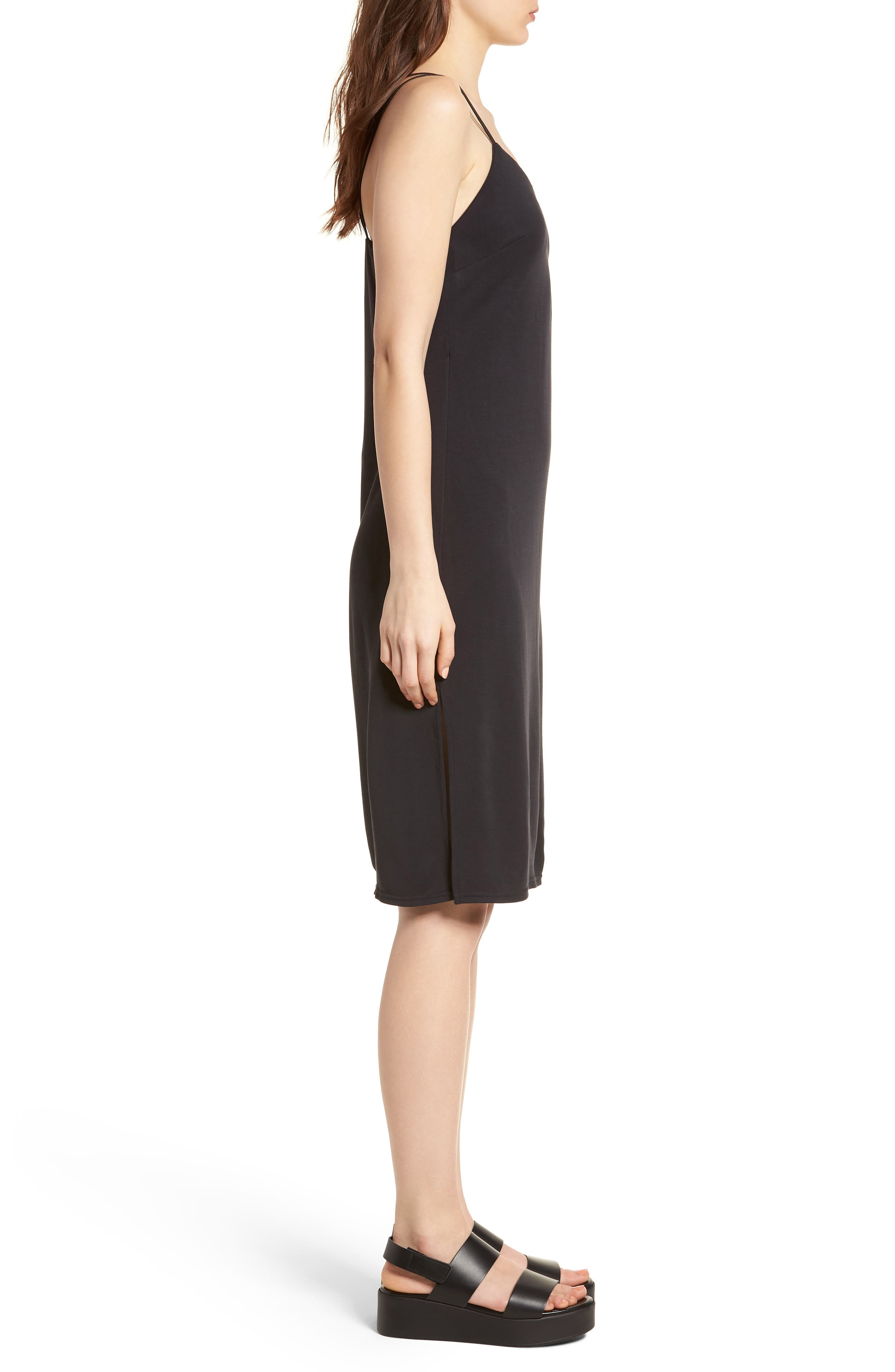 Alley Strappy Camisole Dress,                             Alternate thumbnail 3, color,                             001