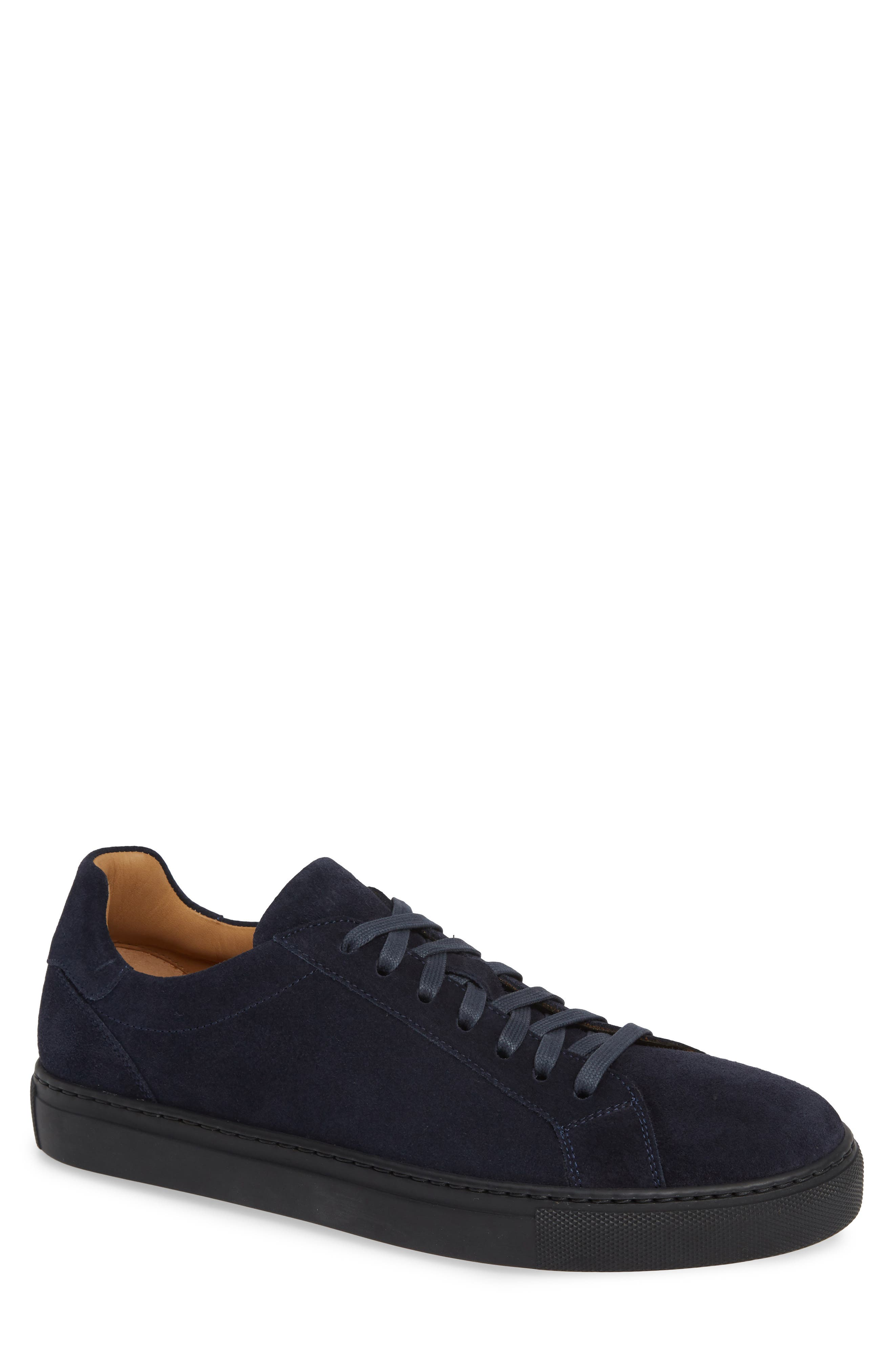 Fede Sneaker,                         Main,                         color, NAVY SUEDE/ LEATHER