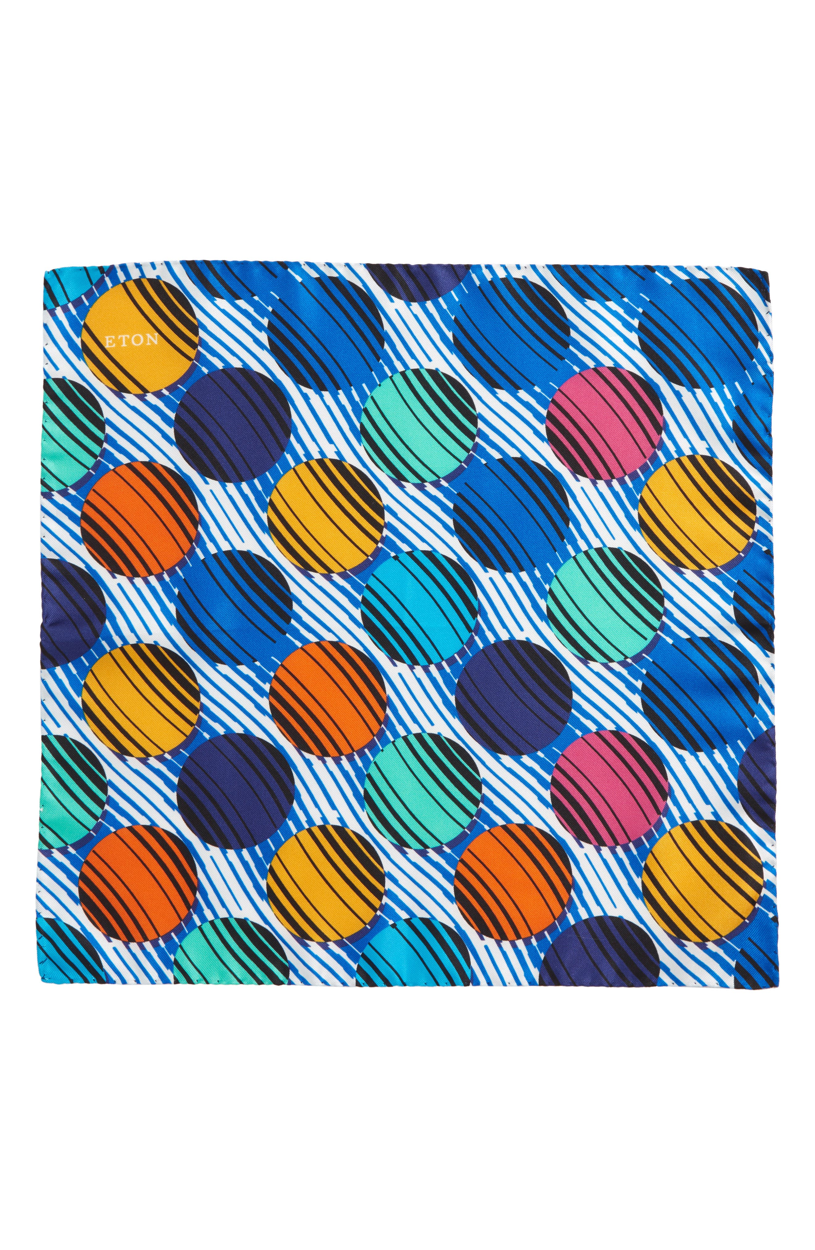 Dot Silk Pocket Square,                             Alternate thumbnail 2, color,