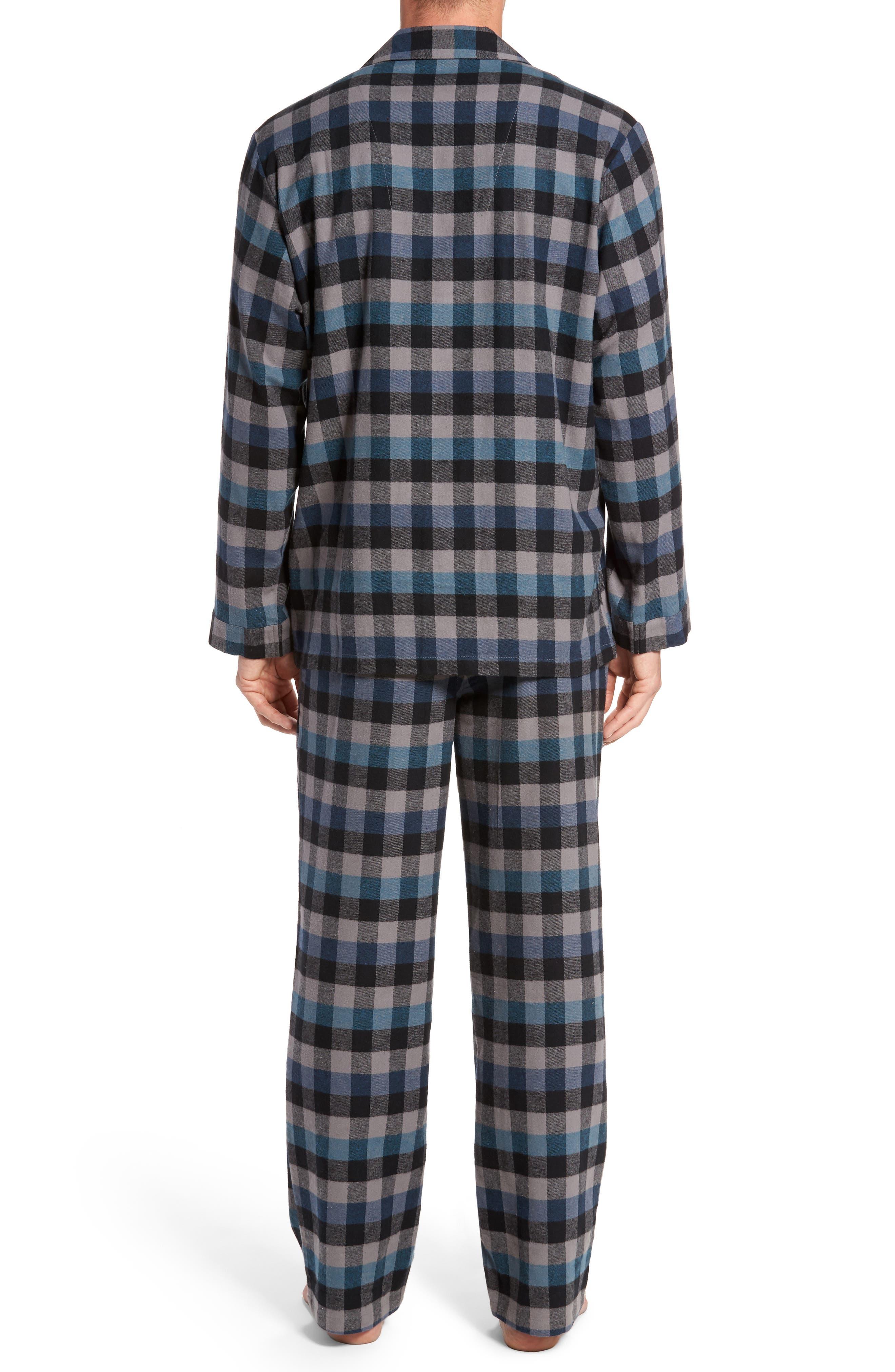 '824' Flannel Pajama Set,                             Alternate thumbnail 33, color,