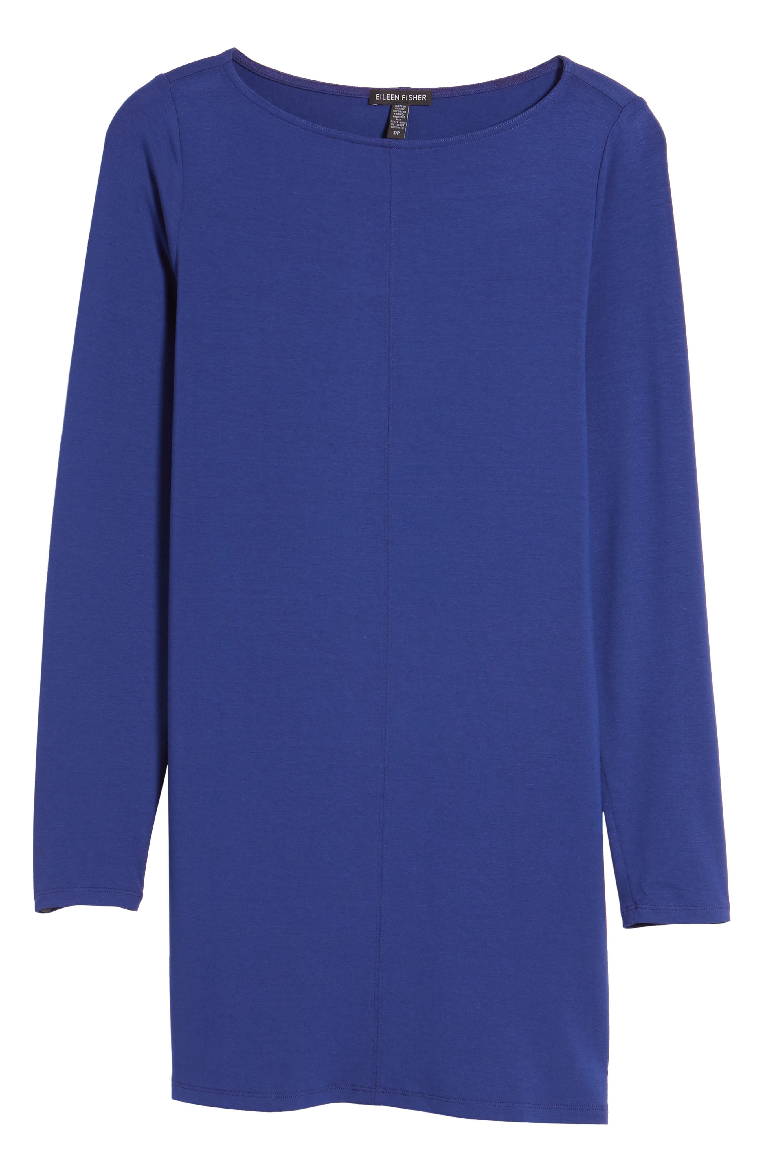 Jersey Bateau Neck Tunic,                             Alternate thumbnail 6, color,                             351