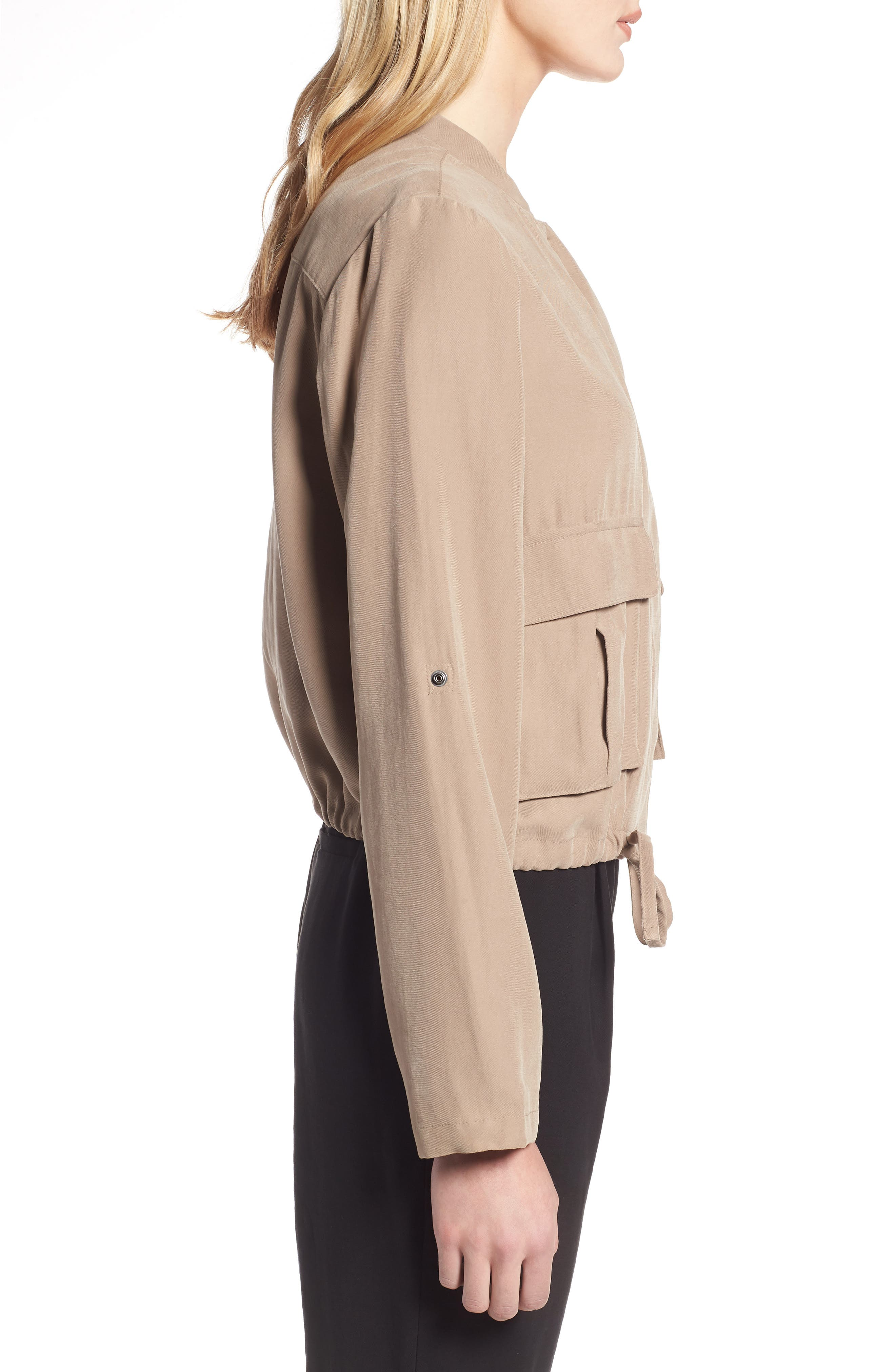 Twill Zip Front Jacket,                             Alternate thumbnail 7, color,