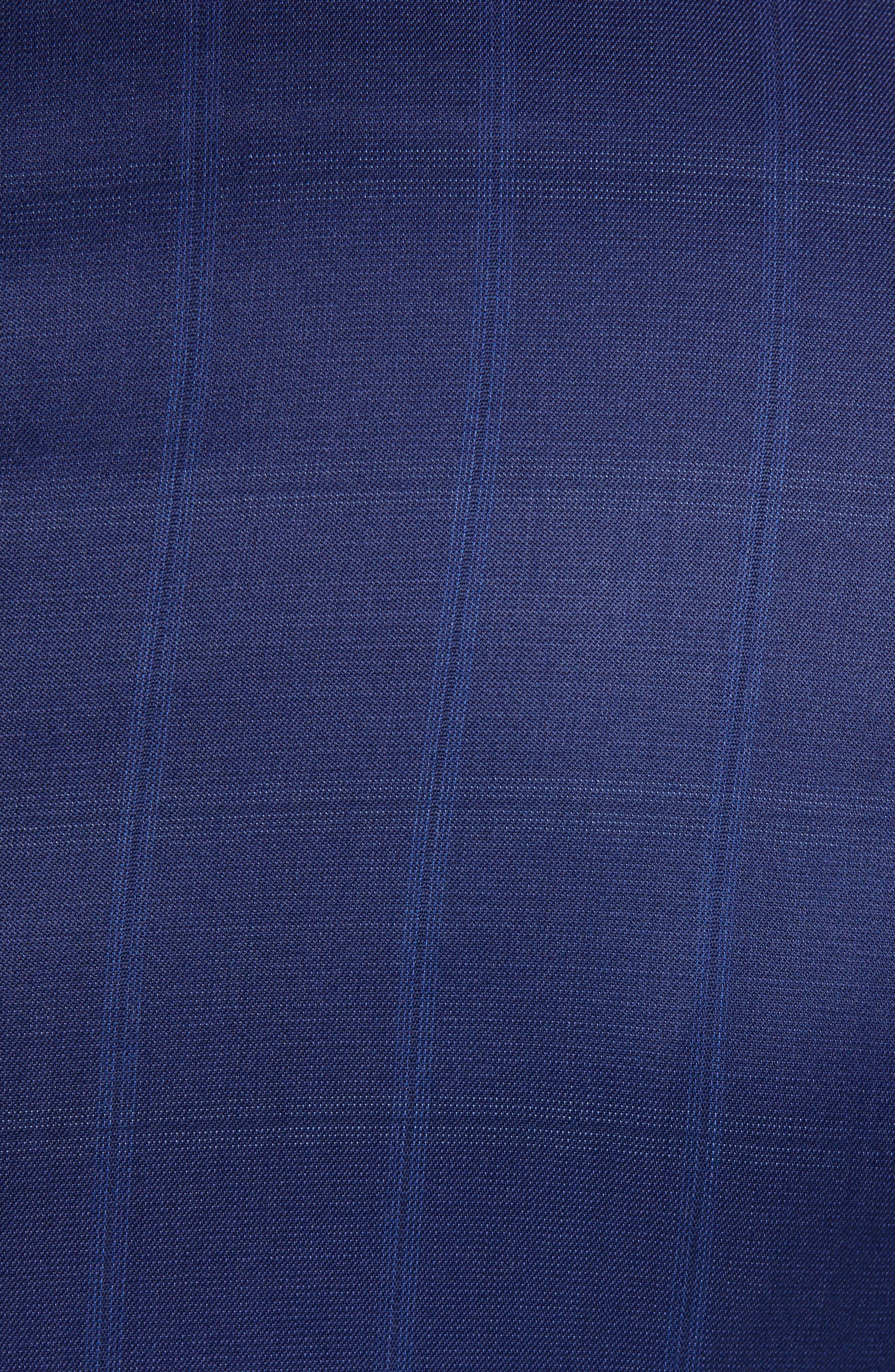 Ryan Classic Fit Windowpane Wool Suit,                             Alternate thumbnail 7, color,                             BLUE