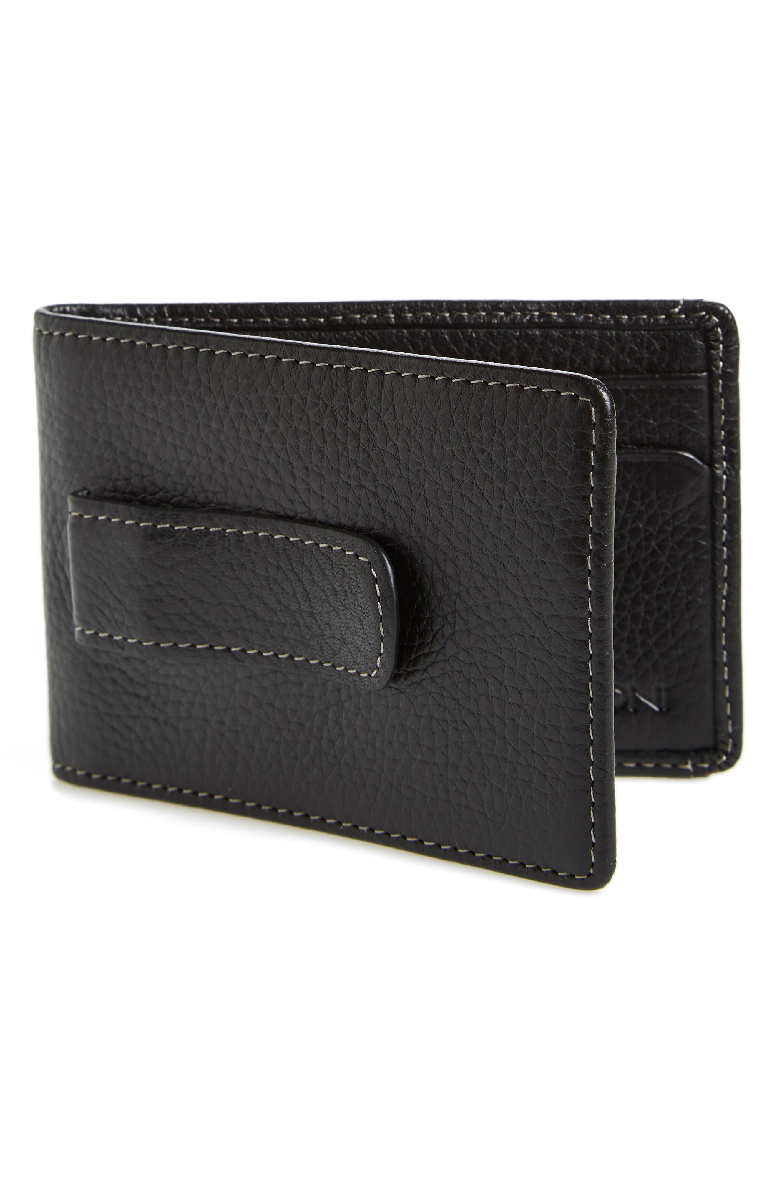 'Tyler' Money Clip Wallet,                             Alternate thumbnail 4, color,                             001