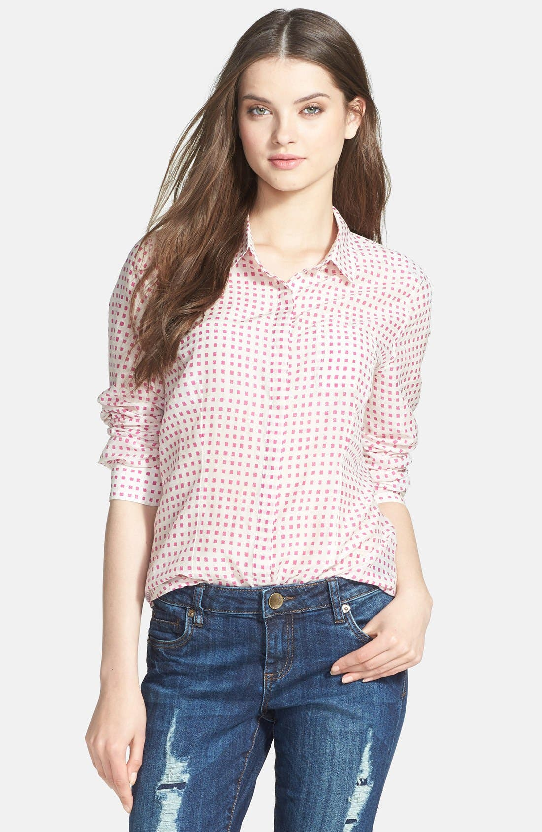 Cotton & Silk Shirt,                             Main thumbnail 18, color,