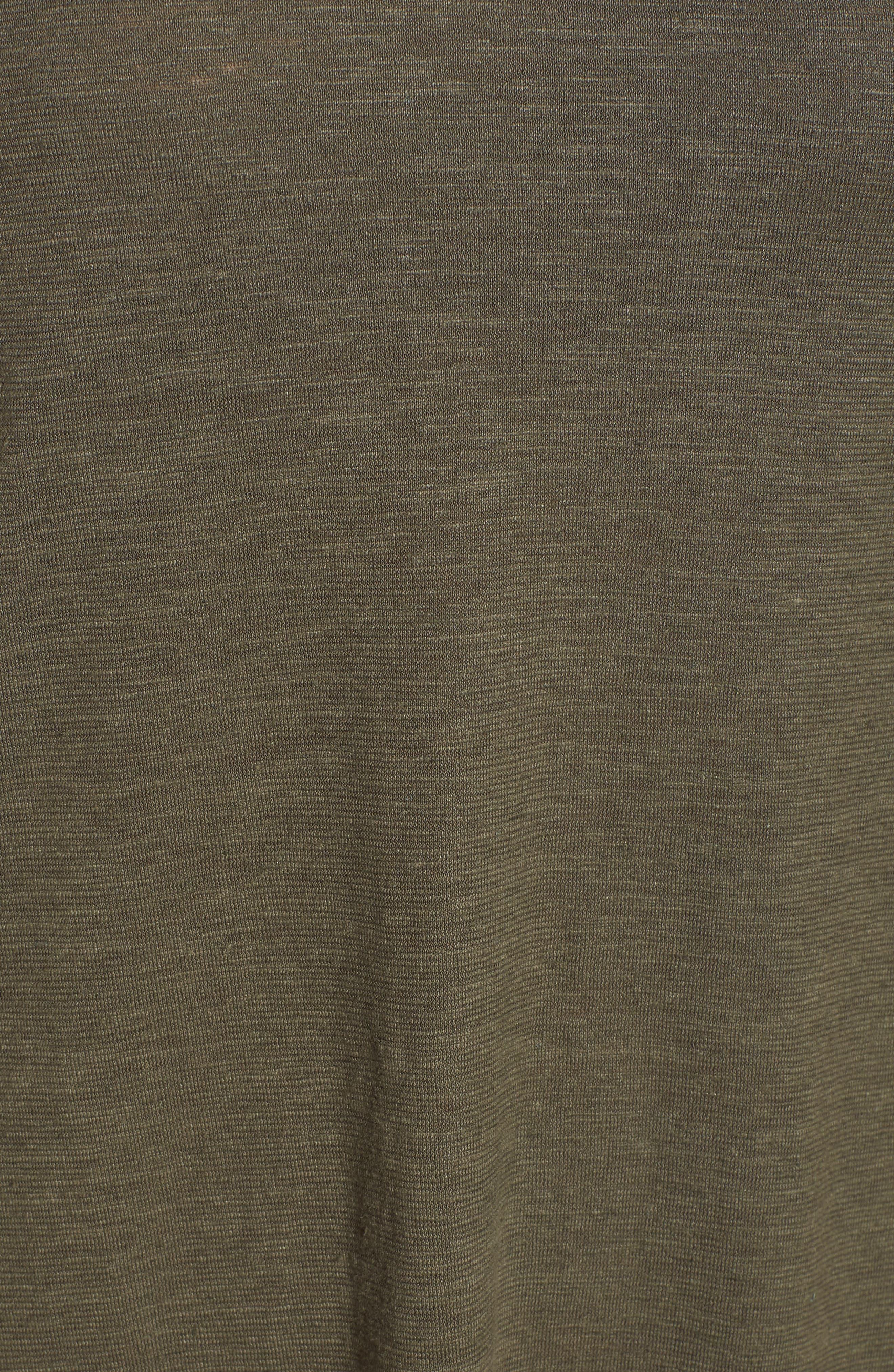 Asymmetrical Hemp Blend Shift Dress,                             Alternate thumbnail 6, color,                             359
