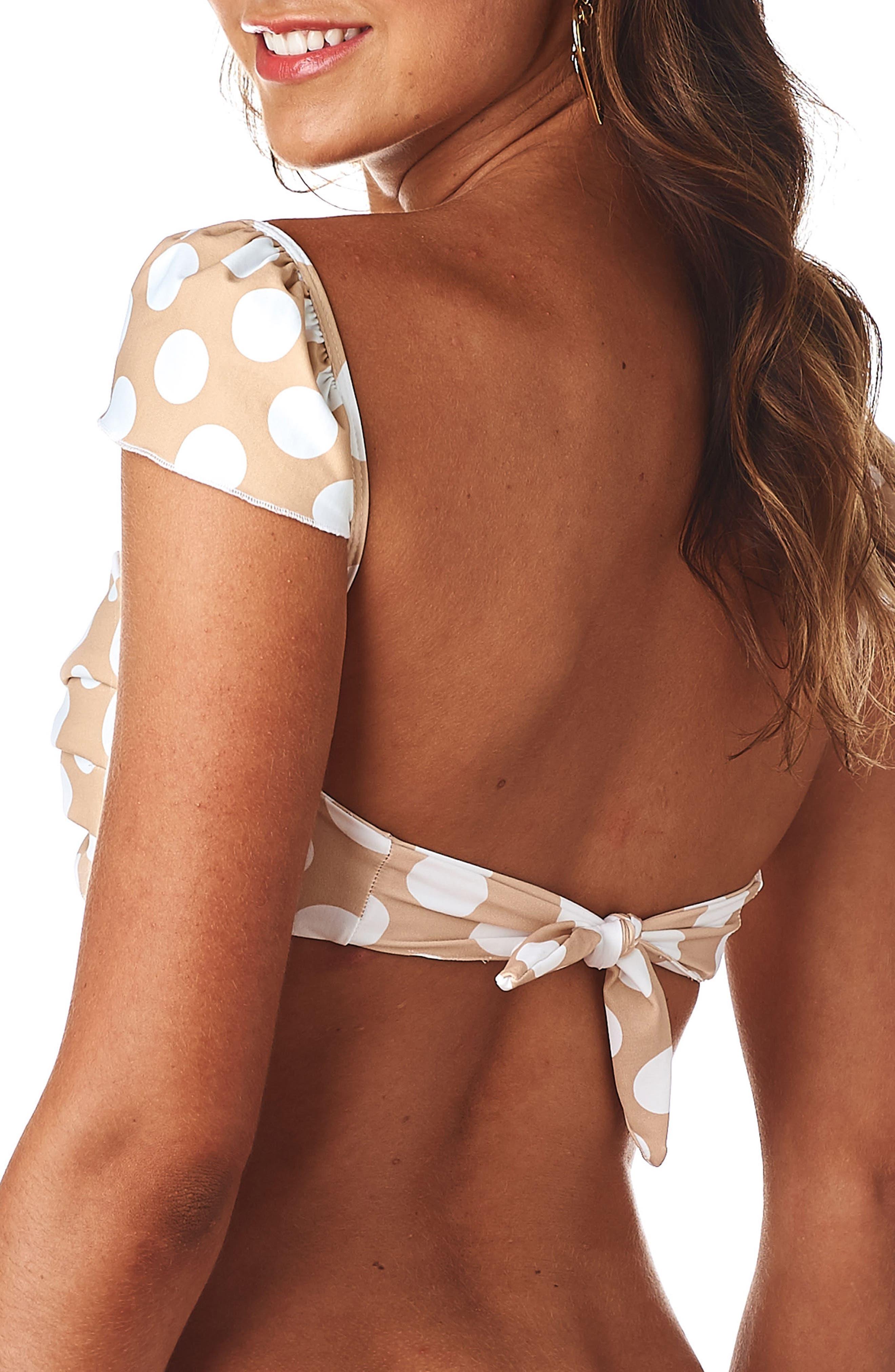 Cabana Polka Dot Bikini Top,                             Alternate thumbnail 2, color,                             250
