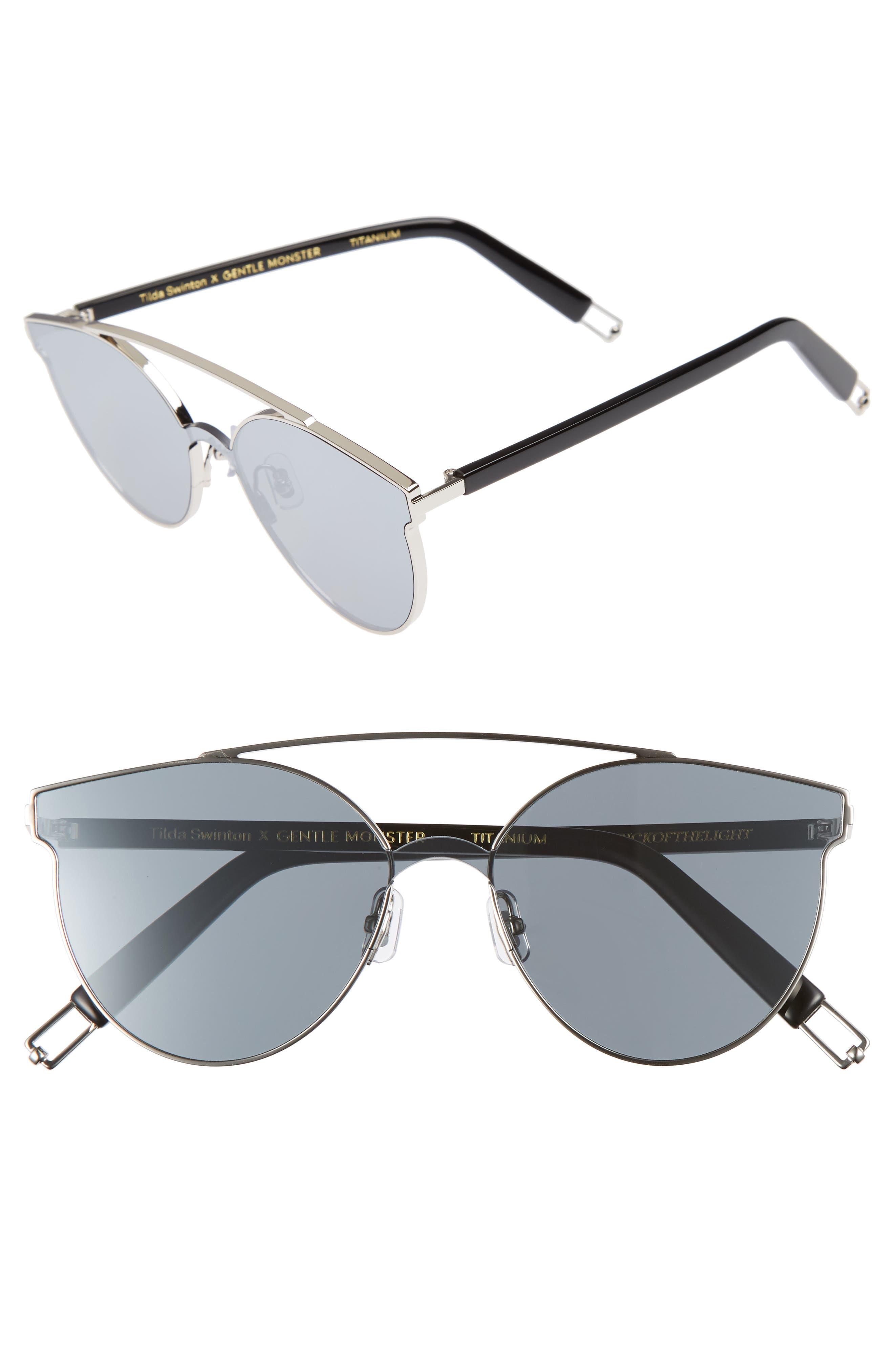 Tilda Swinton x Gentle Monster Trick of the Light 60mm Shield Sunglasses,                         Main,                         color, 040