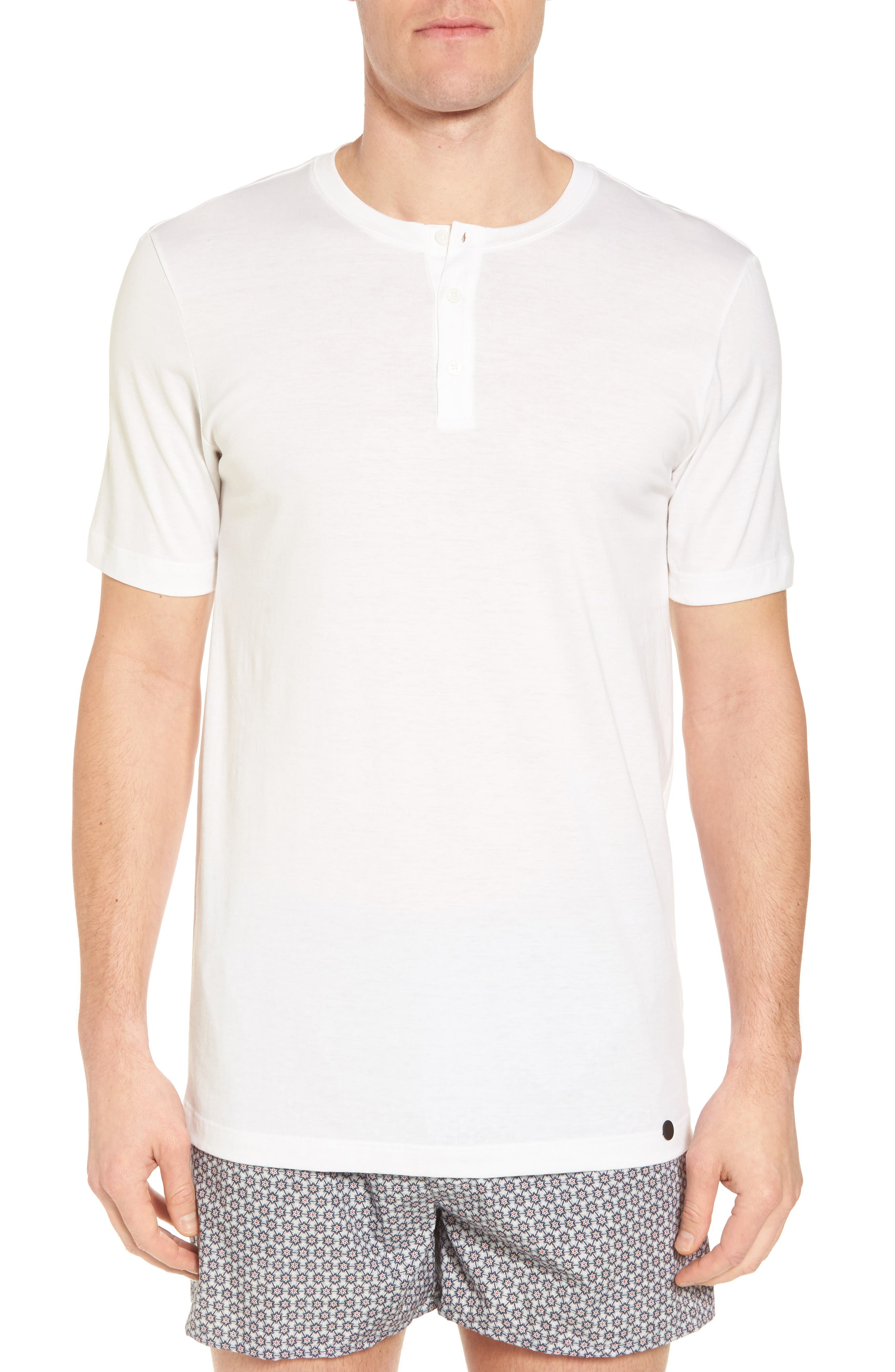 Night & Day Cotton Henley,                         Main,                         color, WHITE