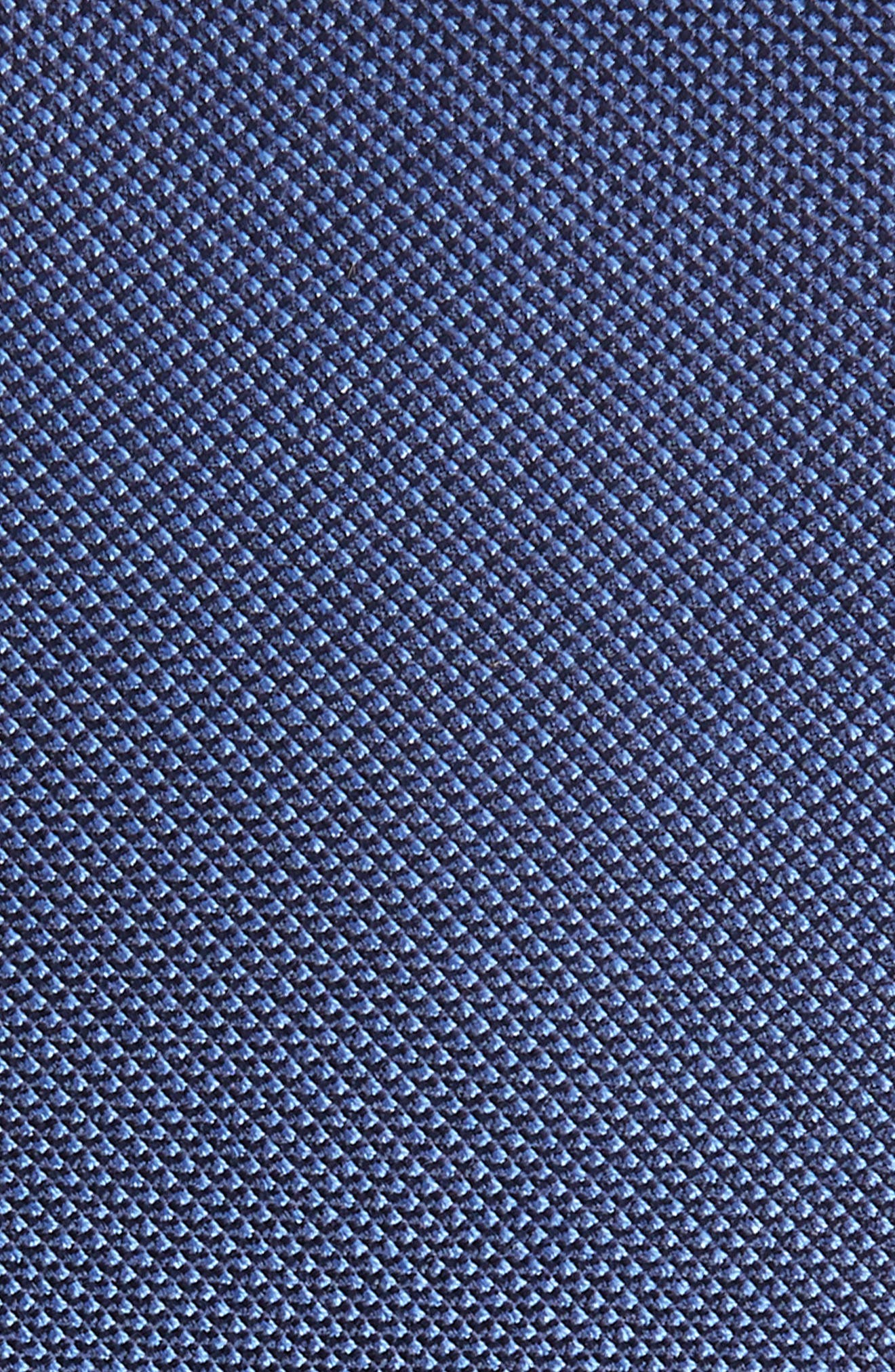 Sargent Solid Silk & Cotton Tie,                             Alternate thumbnail 2, color,                             NAVY