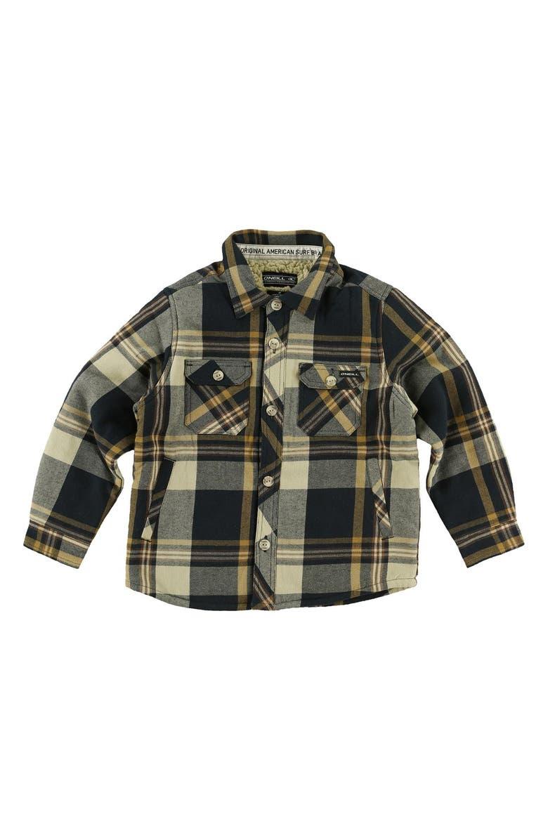 f48928f69 O Neill Brawn Fleece Lined Plaid Shirt (Toddler Boys)