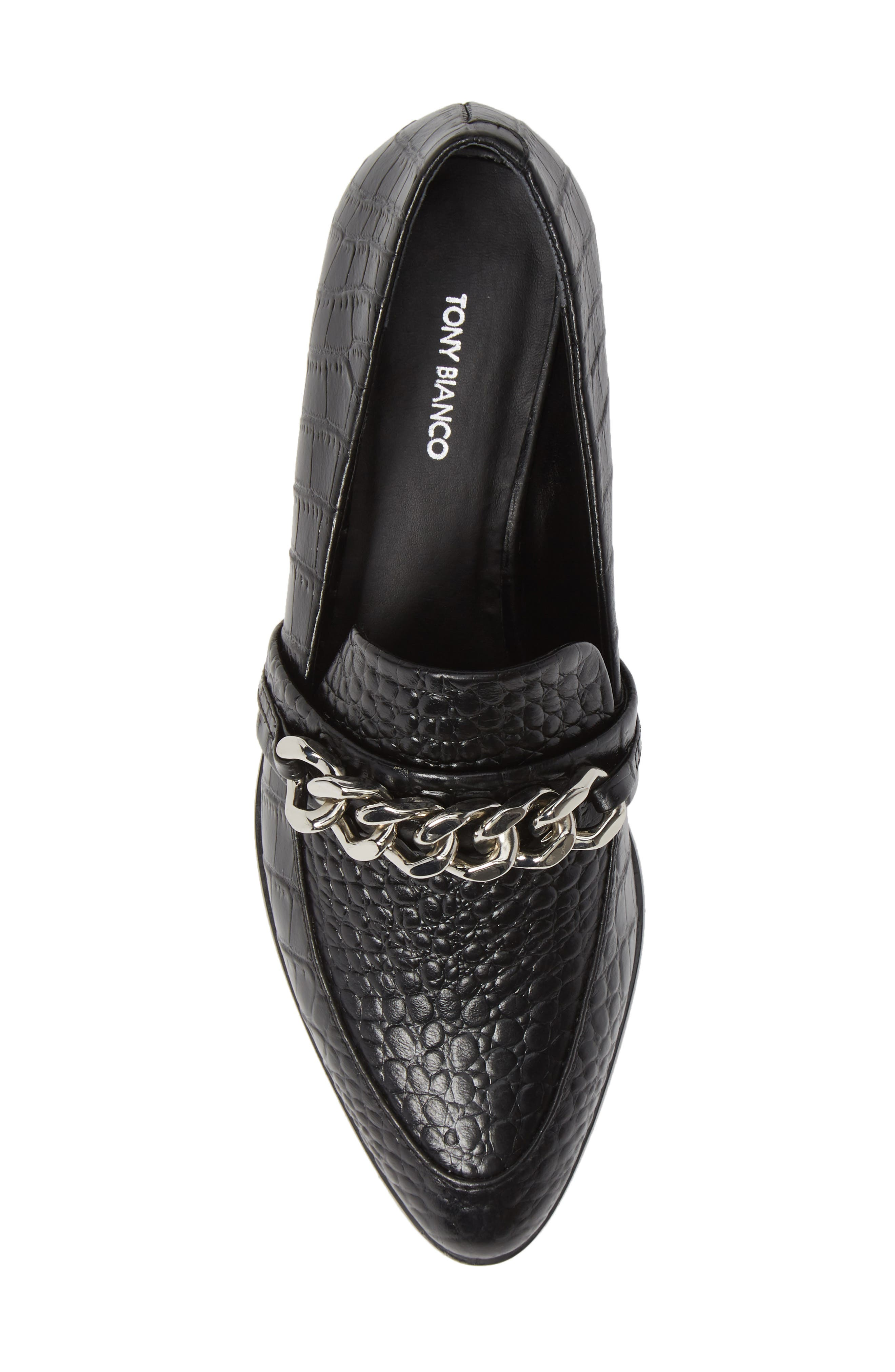 Molly Loafer,                             Alternate thumbnail 5, color,                             BLACK CROC LEATHER