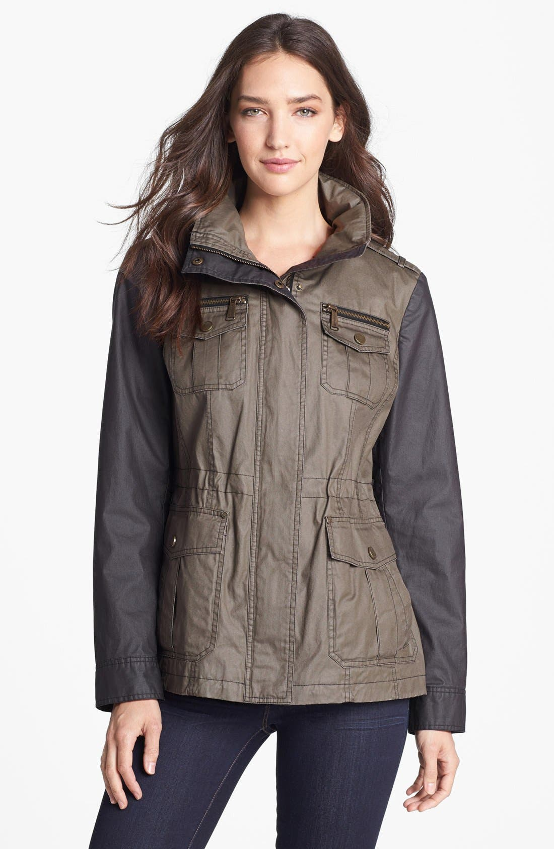 Waxed Cotton Field Jacket,                             Main thumbnail 1, color,                             310