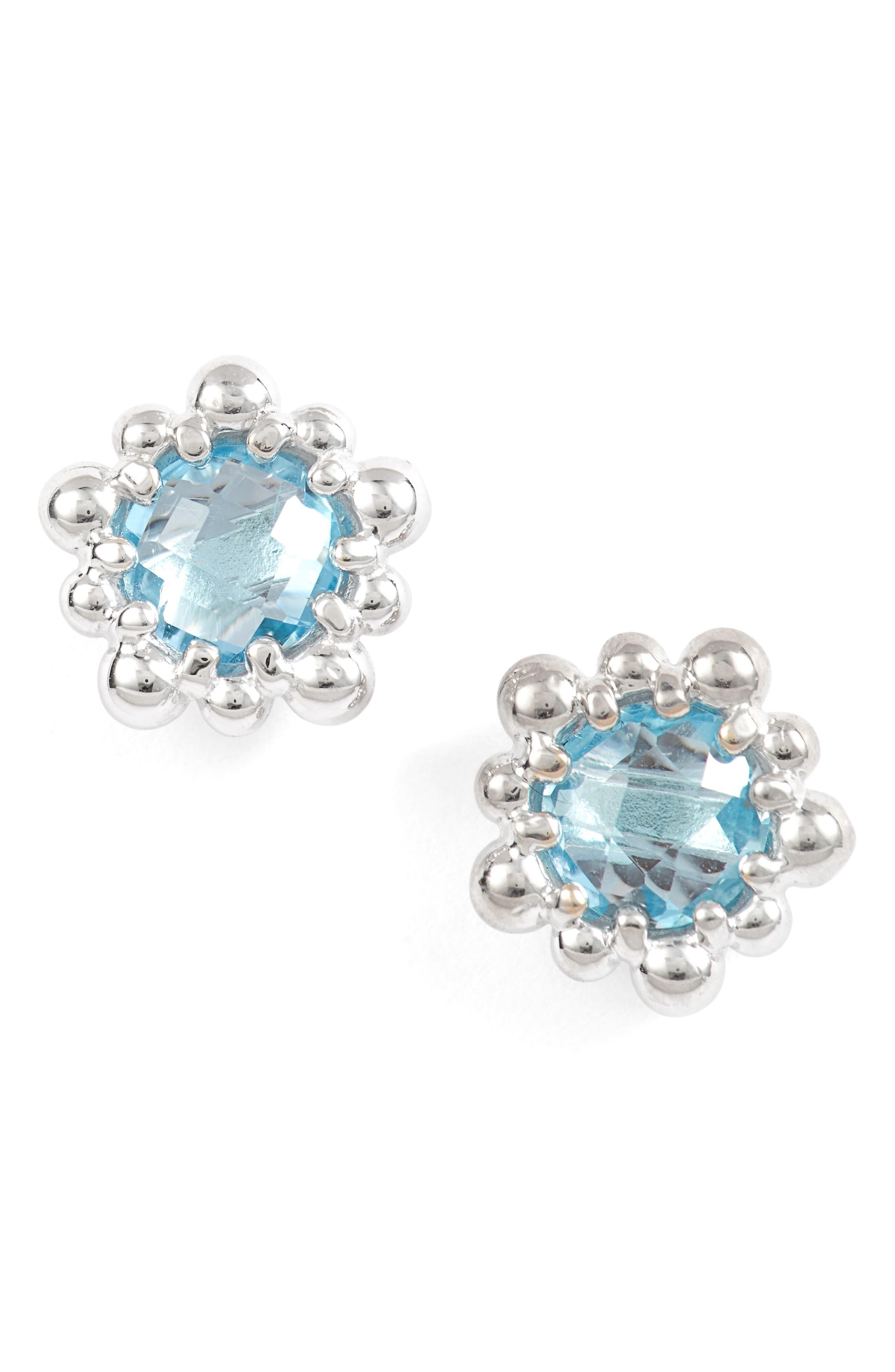 Micro Dew Drop Topaz Earrings,                             Main thumbnail 1, color,                             040