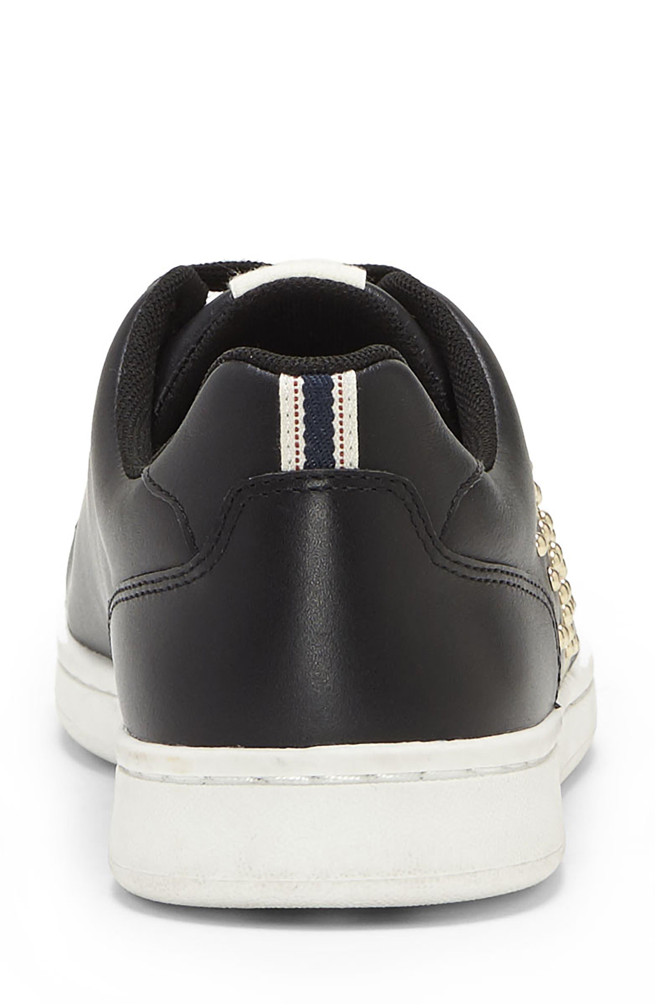 Chamour Sneaker,                             Alternate thumbnail 8, color,                             BLACK/ GOLD LEATHER