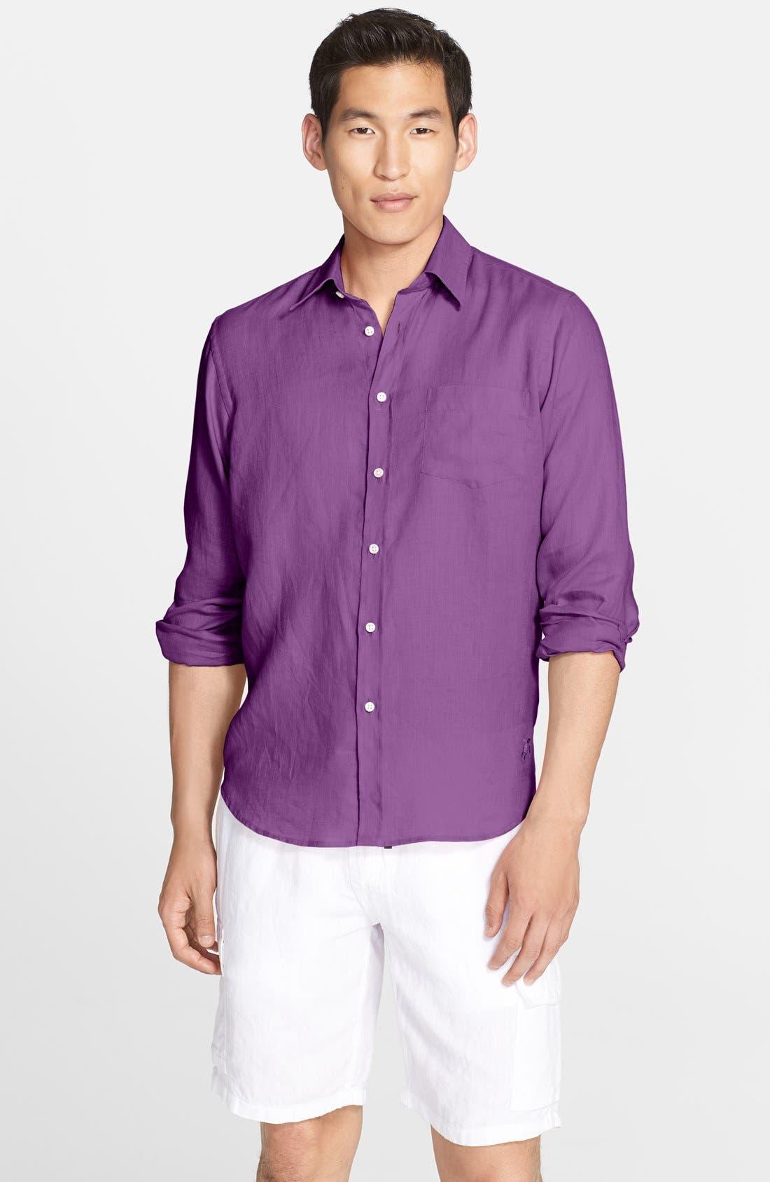 'Caroubier' Linen Shirt,                             Main thumbnail 12, color,