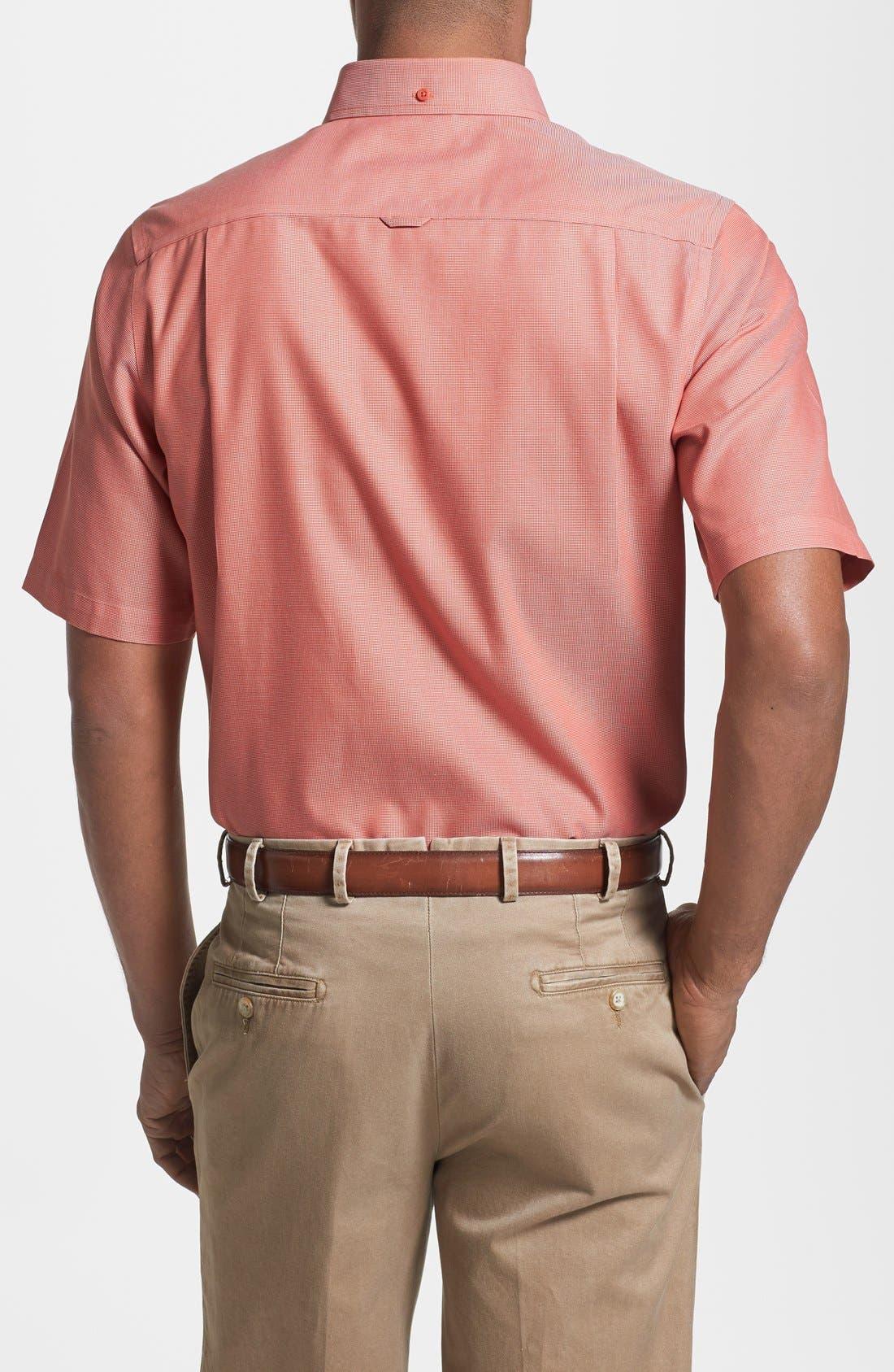 'Classic' Smartcare<sup>™</sup> Regular Fit Short Sleeve Cotton Sport Shirt,                             Alternate thumbnail 63, color,