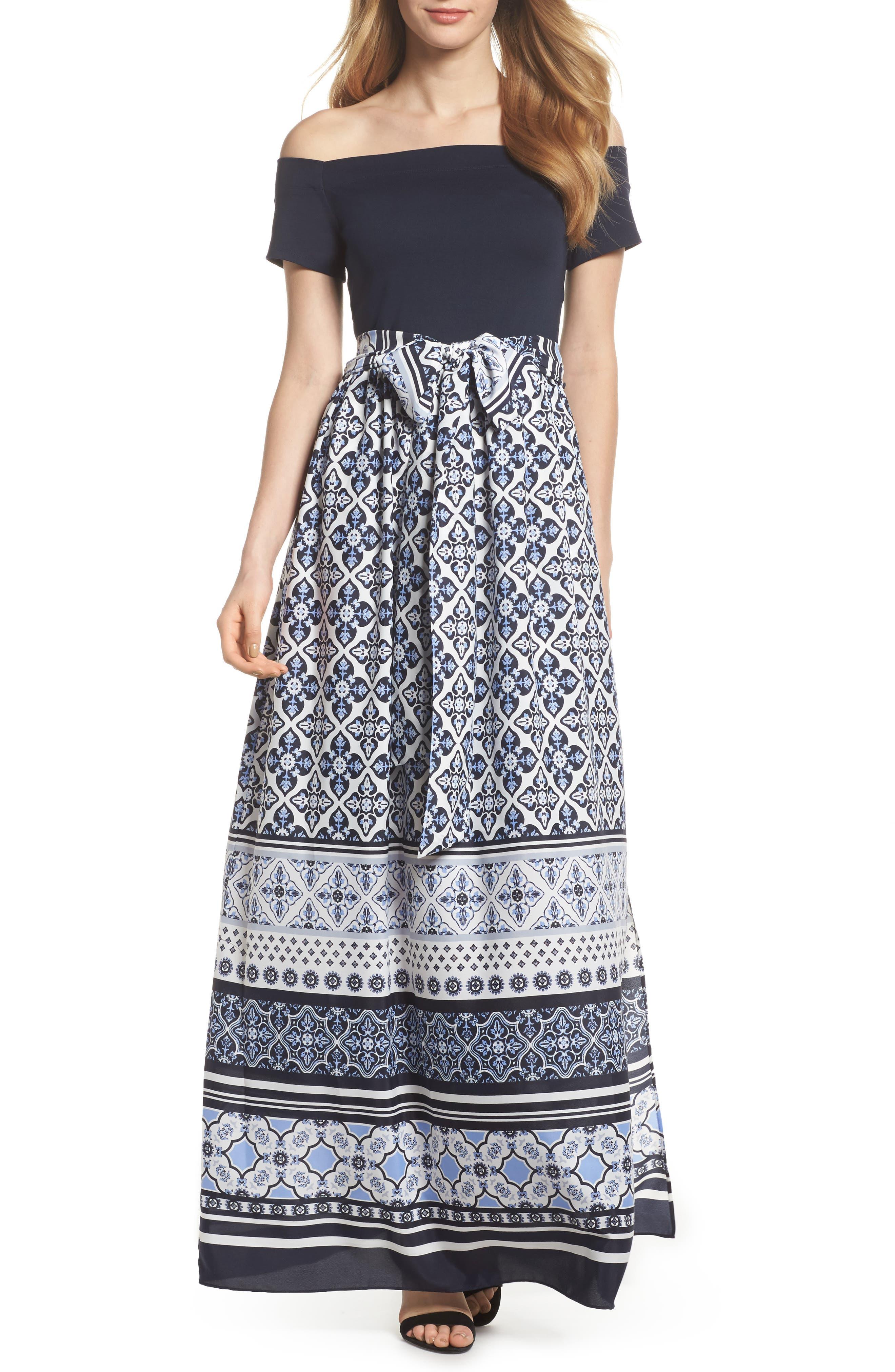 Off the Shoulder Maxi Dress,                         Main,                         color,