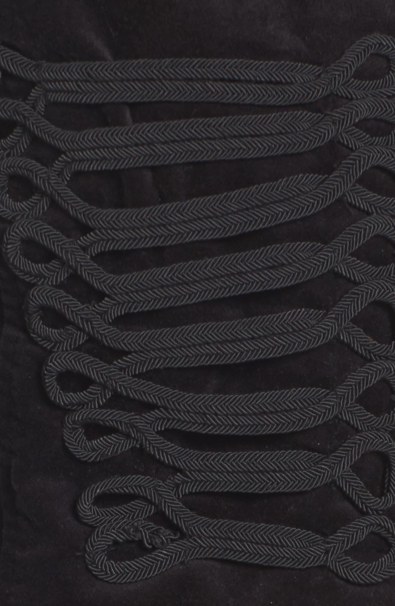 Ruffle Sleeve Peplum Jacket,                             Alternate thumbnail 6, color,                             001