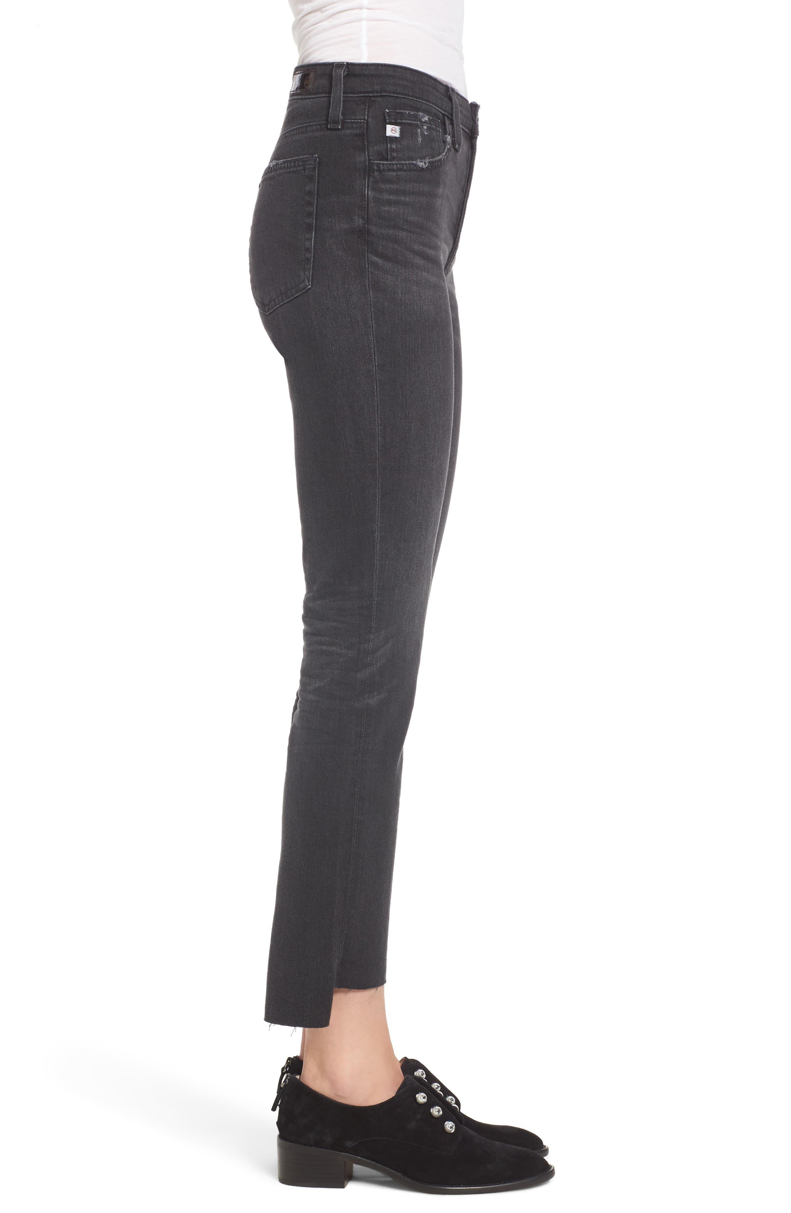 AG,                             Isabelle High Waist Step Hem Jeans,                             Alternate thumbnail 3, color,                             419