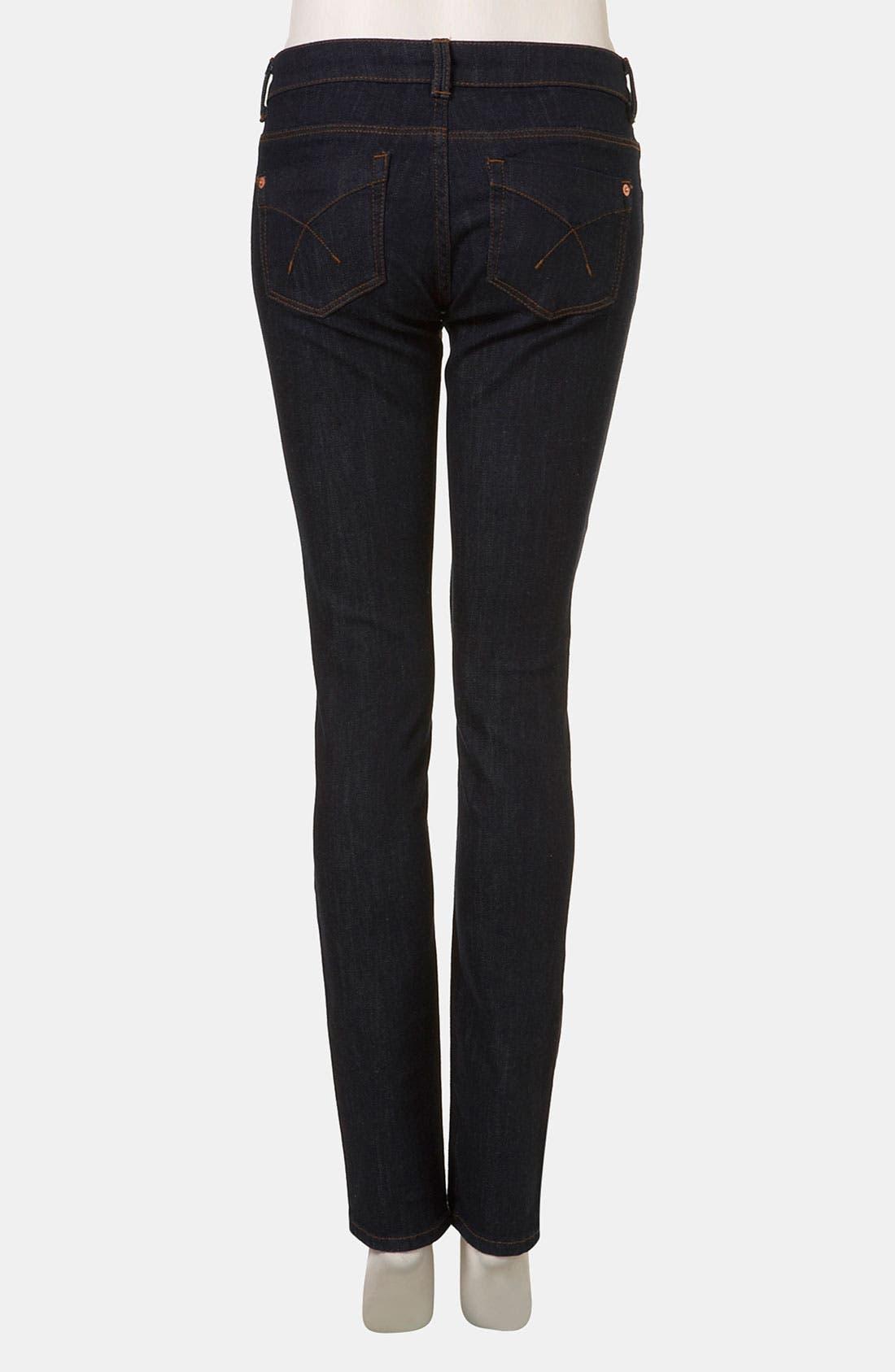 Moto 'Baxter' Skinny Jeans,                             Alternate thumbnail 3, color,                             401