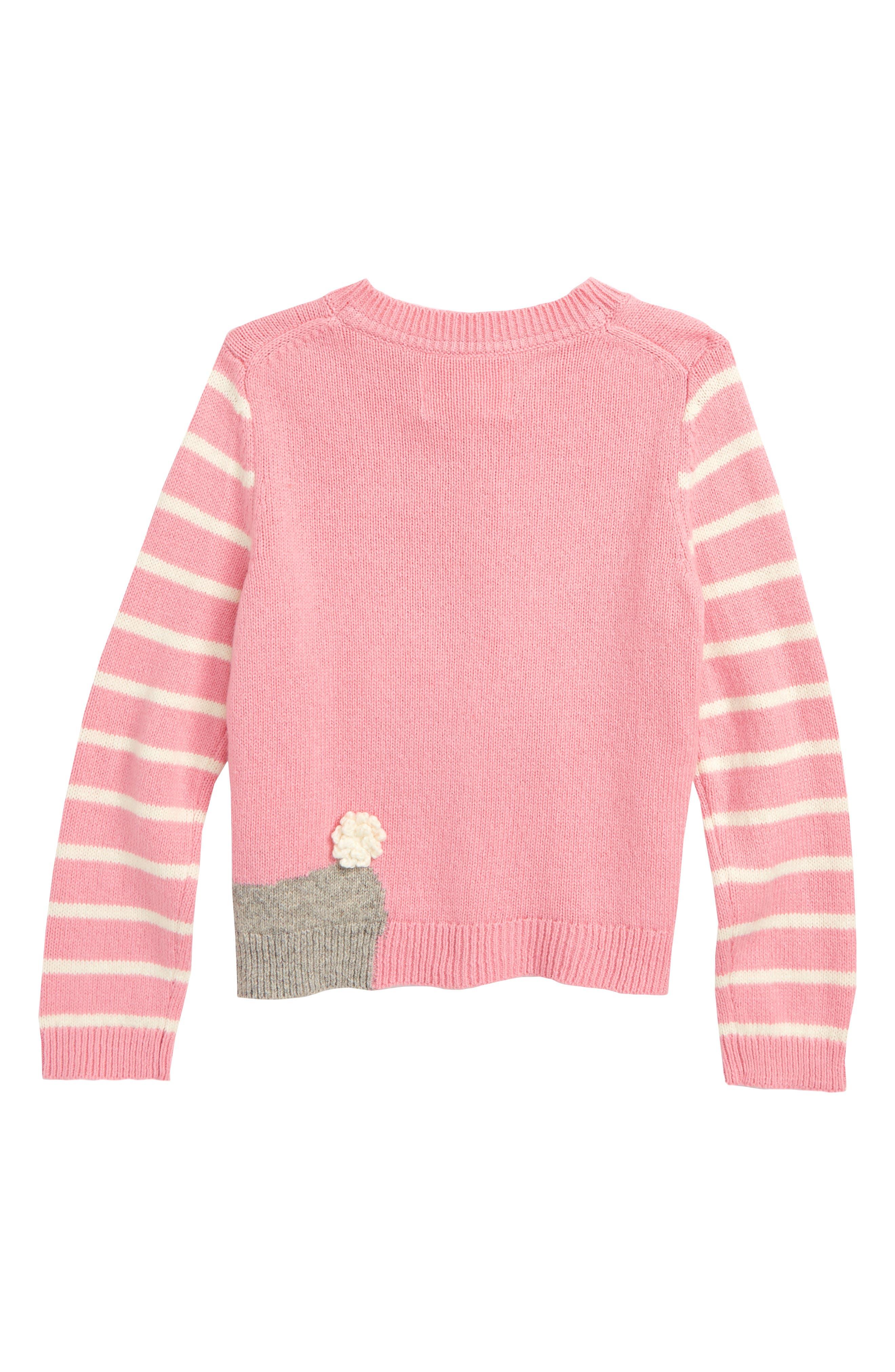 Pet Knit Cardigan,                             Alternate thumbnail 2, color,                             PNK FORMICA PINK POODLE