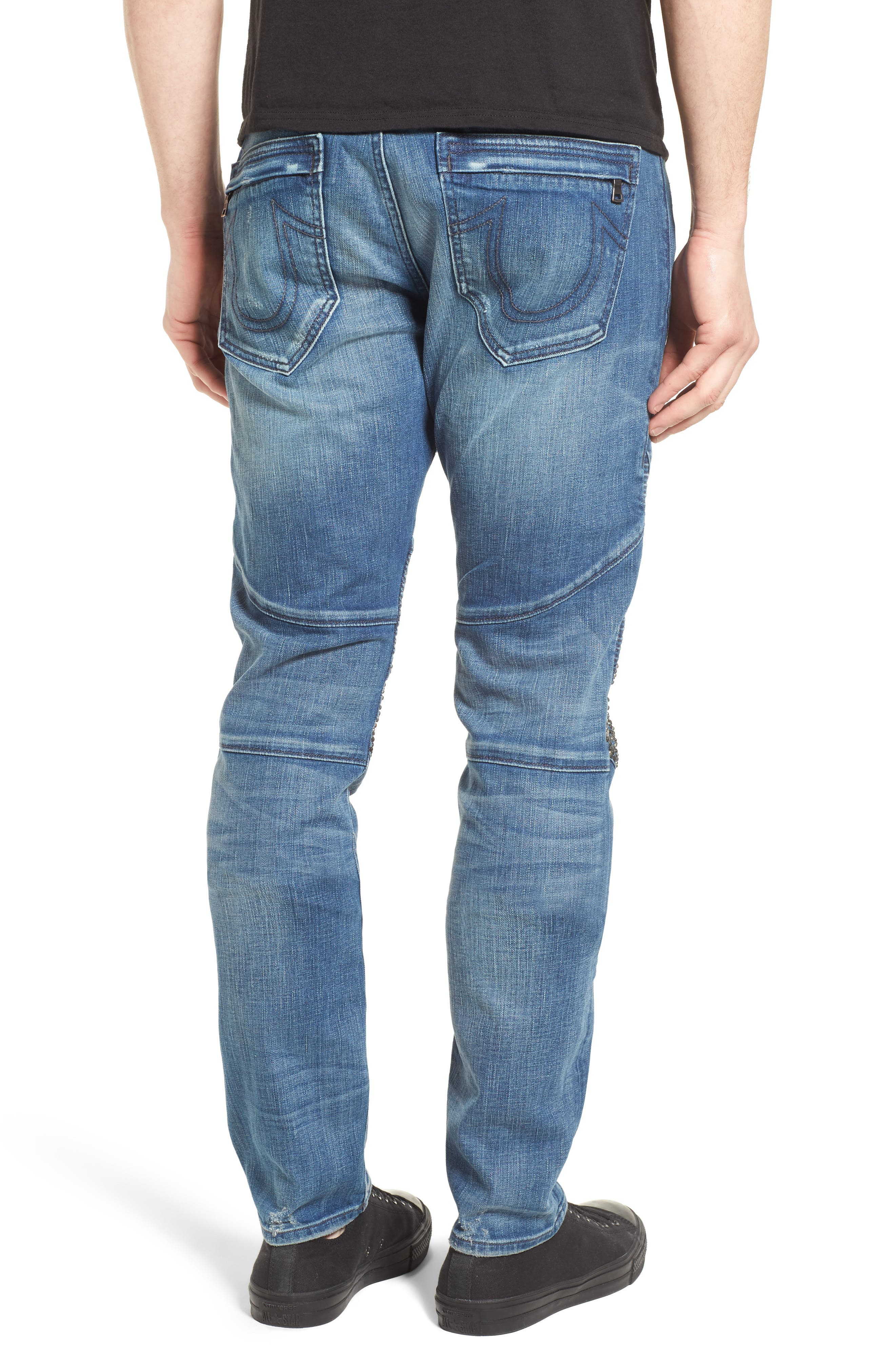 TRUE RELIGION BRAND JEANS,                             Rocco Skinny Fit Jeans,                             Alternate thumbnail 2, color,                             ENDLESS ROAD
