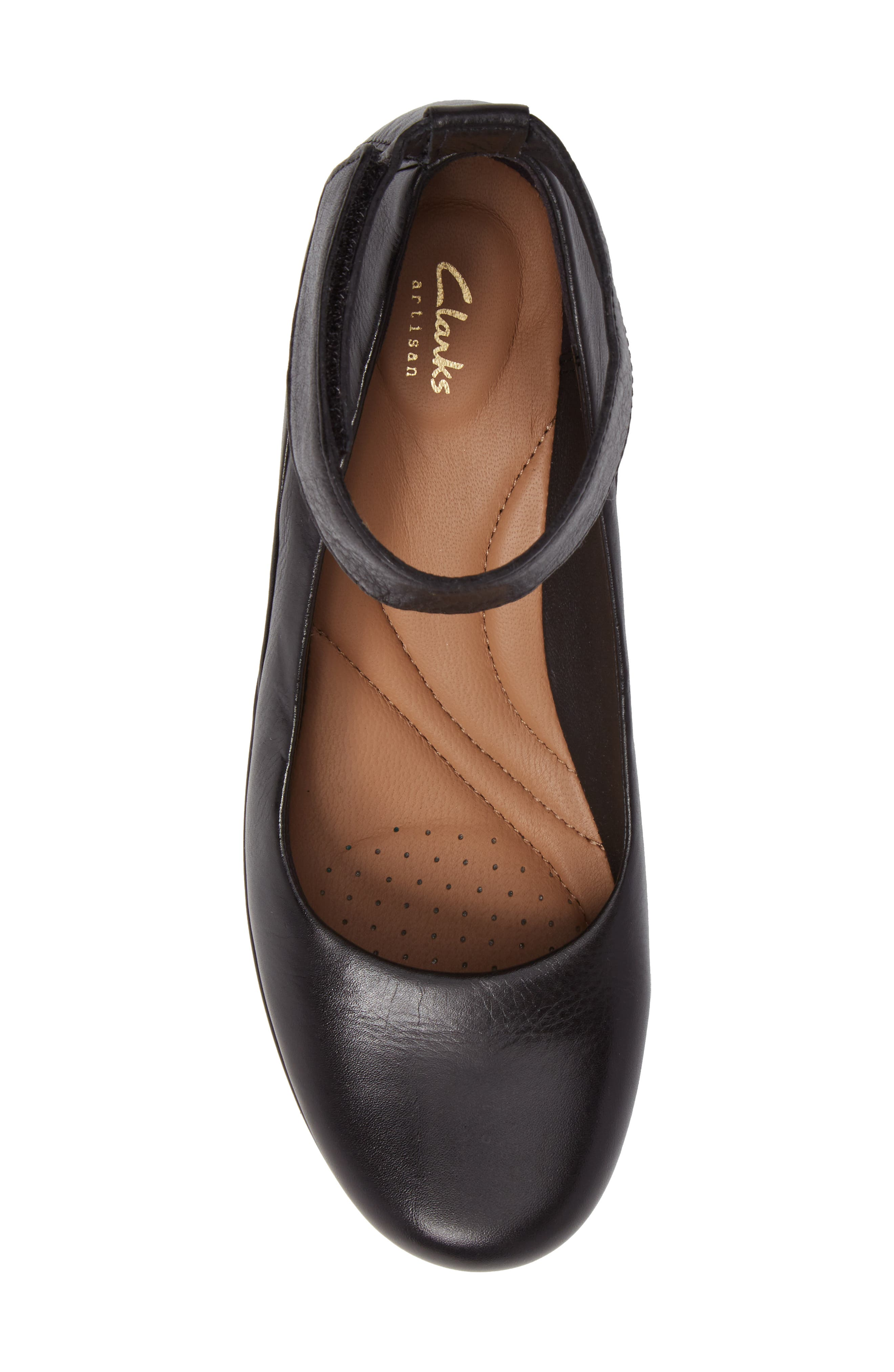 Wynnmere Fox Ankle Strap Pump,                             Alternate thumbnail 5, color,                             BLACK LEATHER