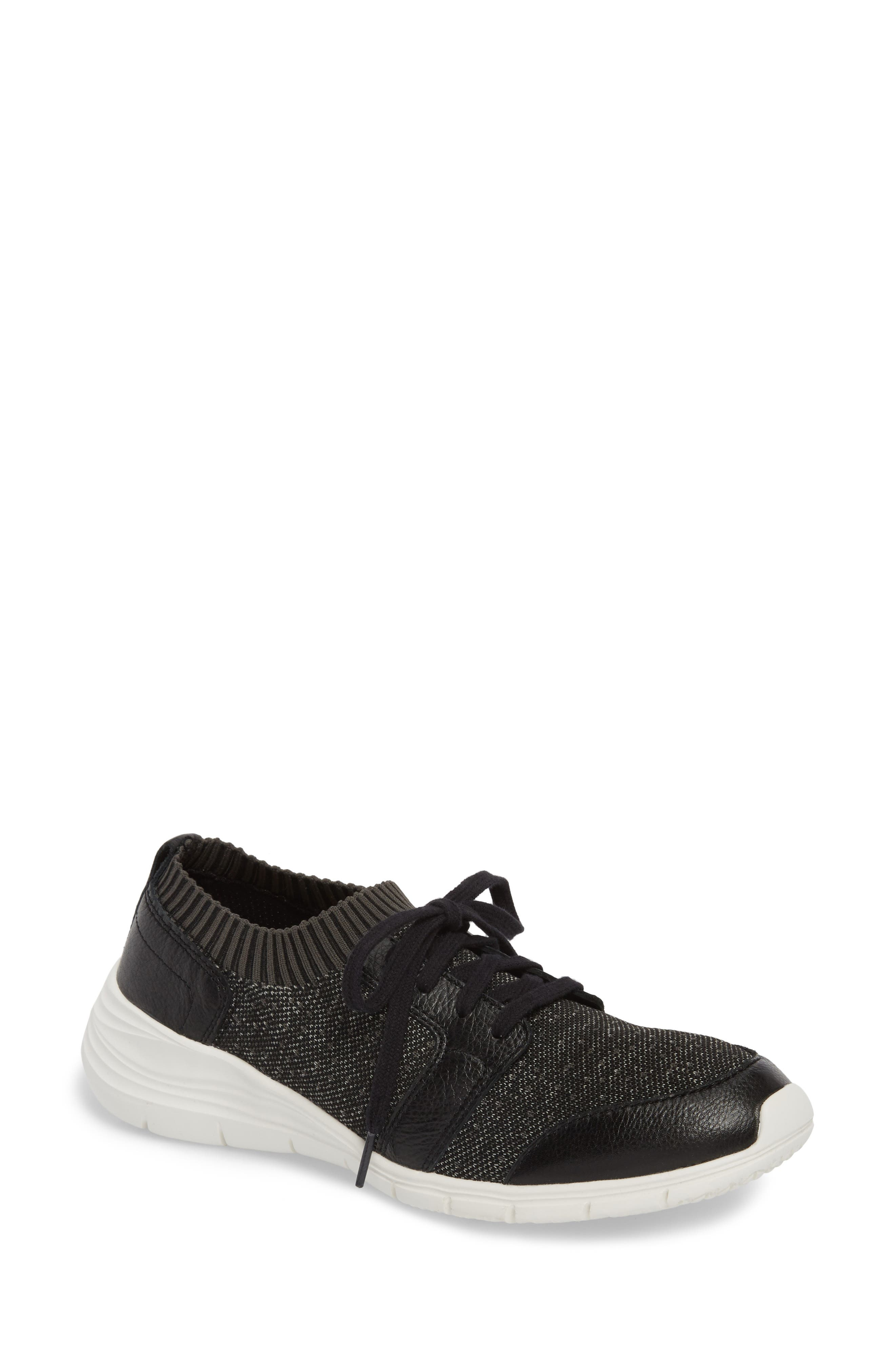 Cypress Knit Sneaker,                         Main,                         color, BLACK FABRIC