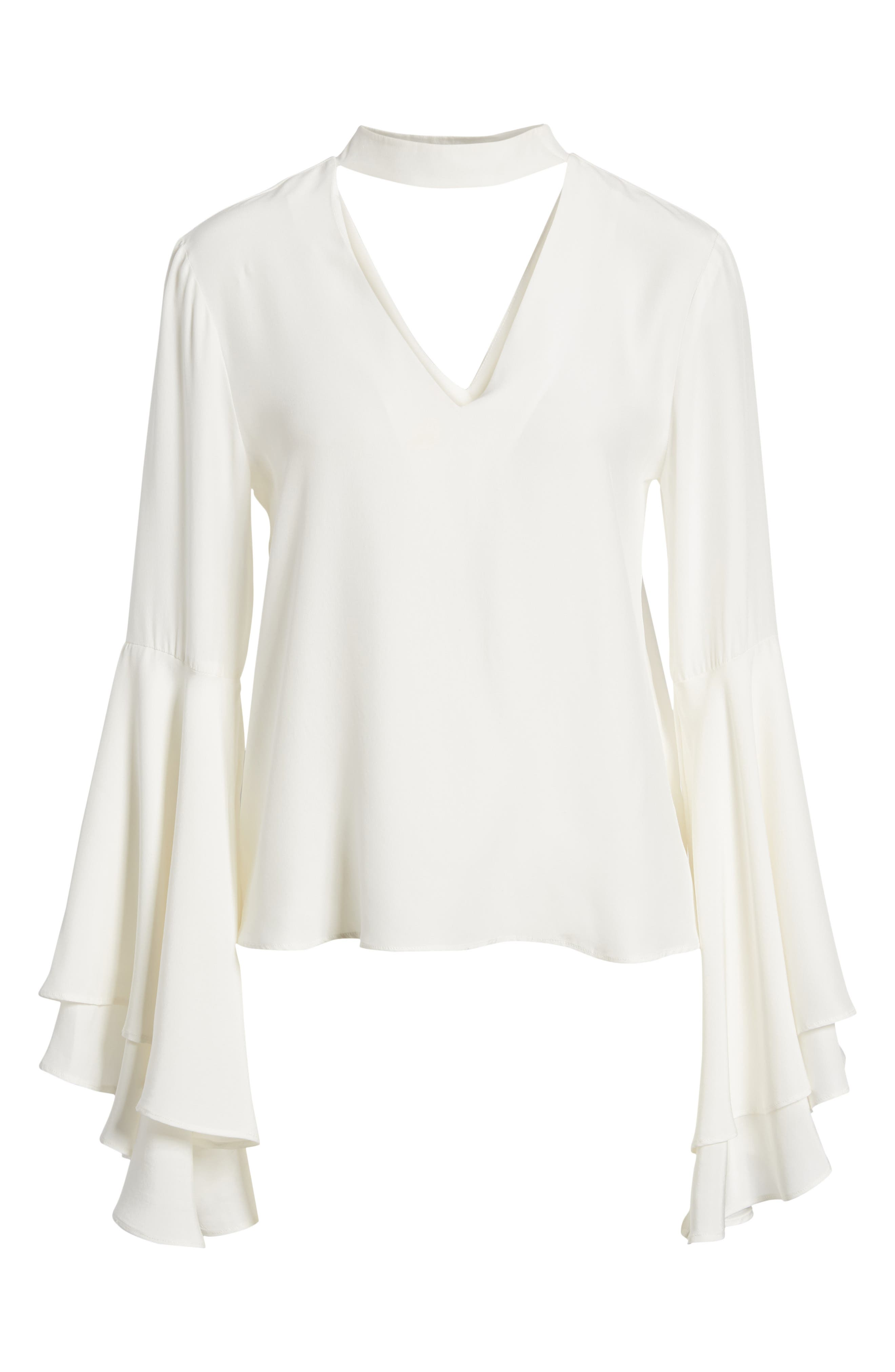 Bell Sleeve Top,                             Alternate thumbnail 7, color,                             908